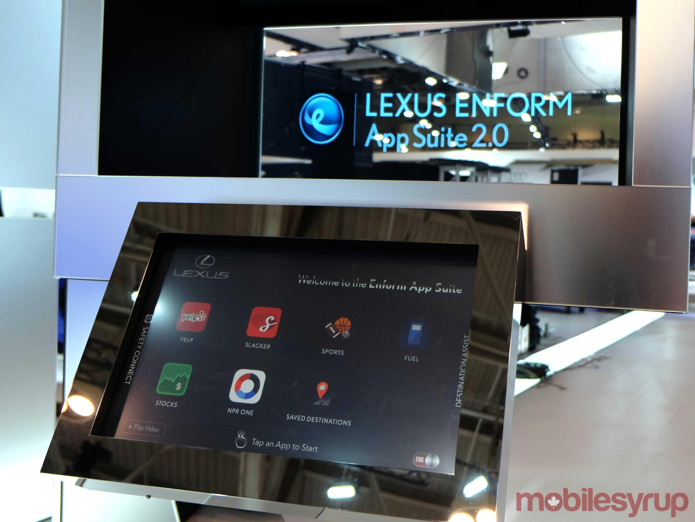 Photo of Lexus' Enform infotainment system