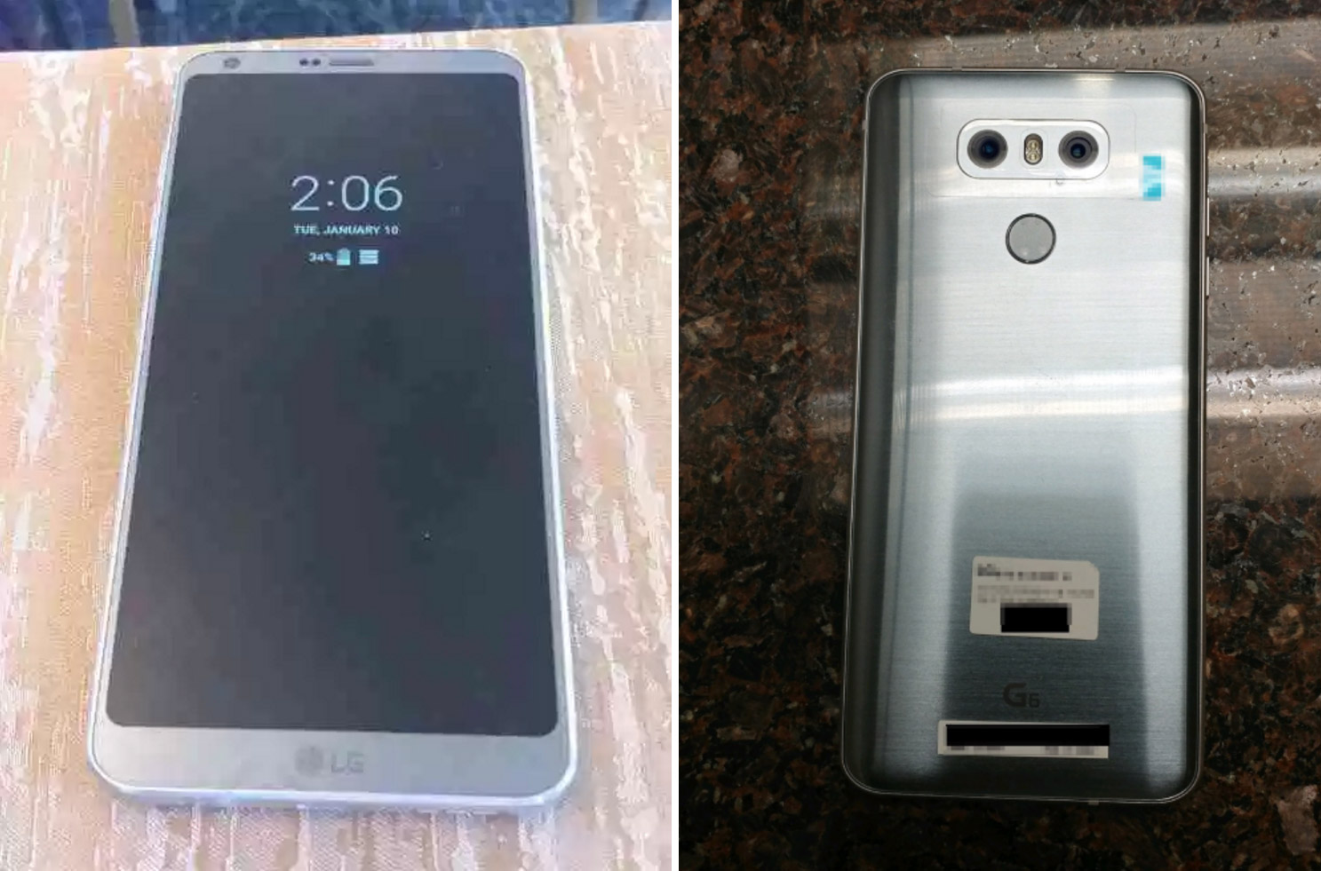 lg g6 leak photos front and back