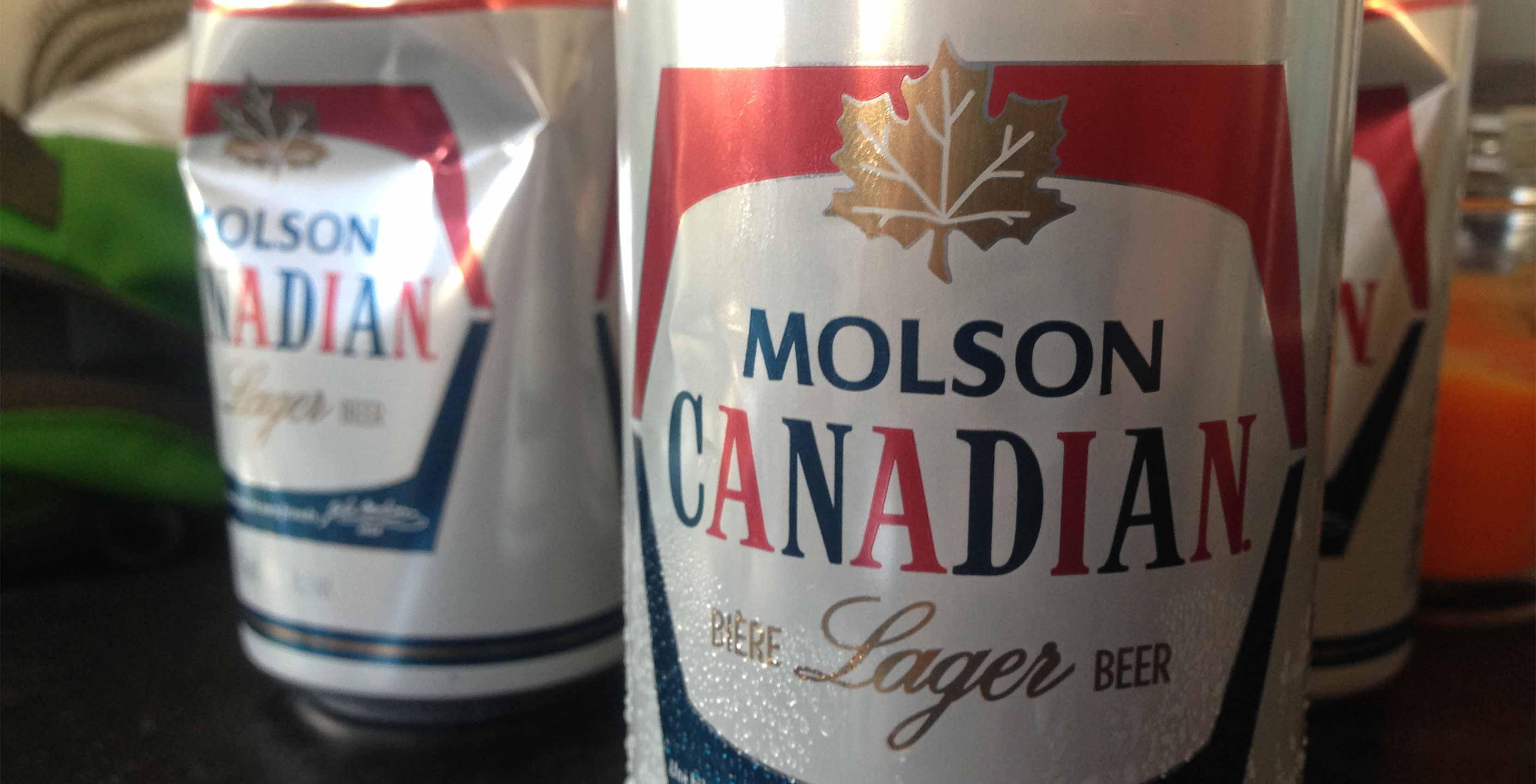 Molson Canadian can - NHL Sportsnet
