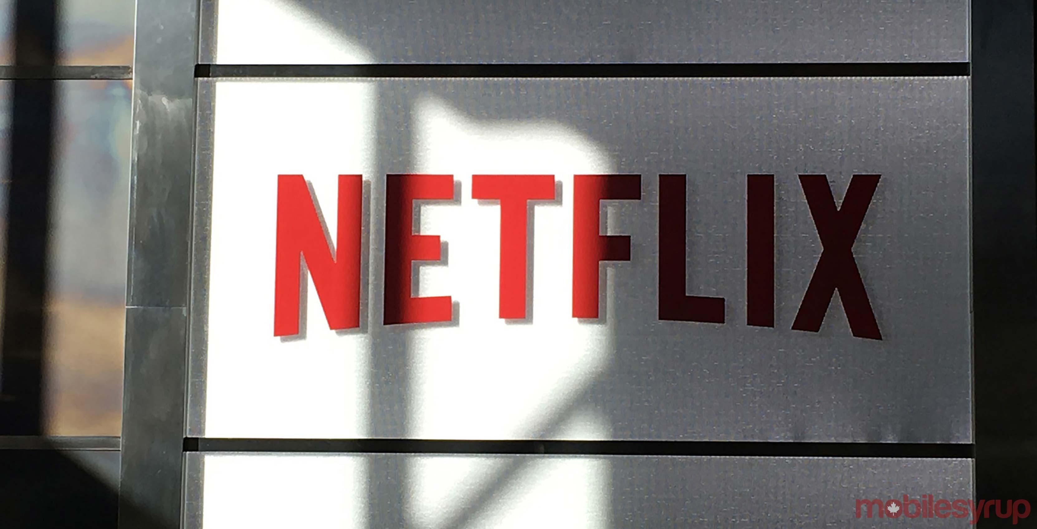 Netflix sign