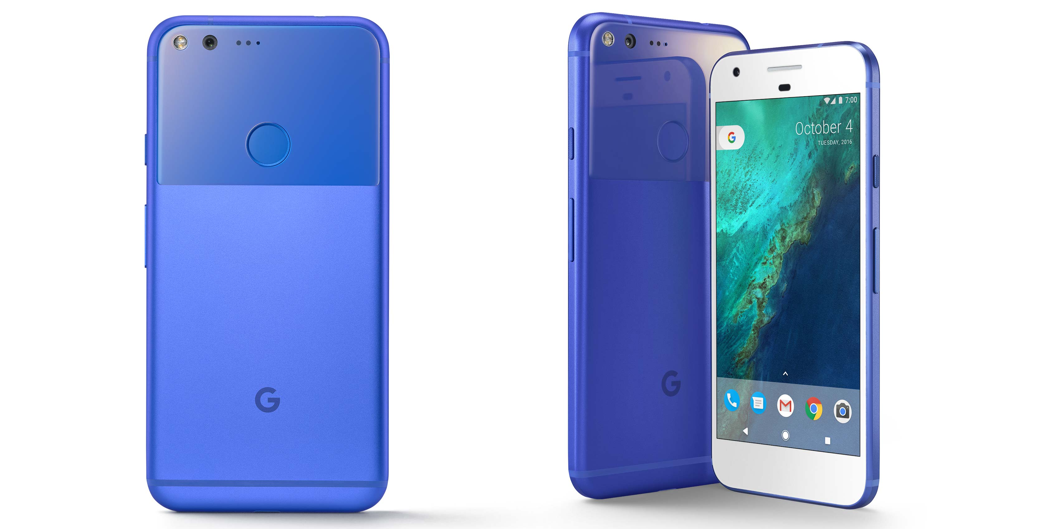 really blue google pixel now available for pre order exclusively at