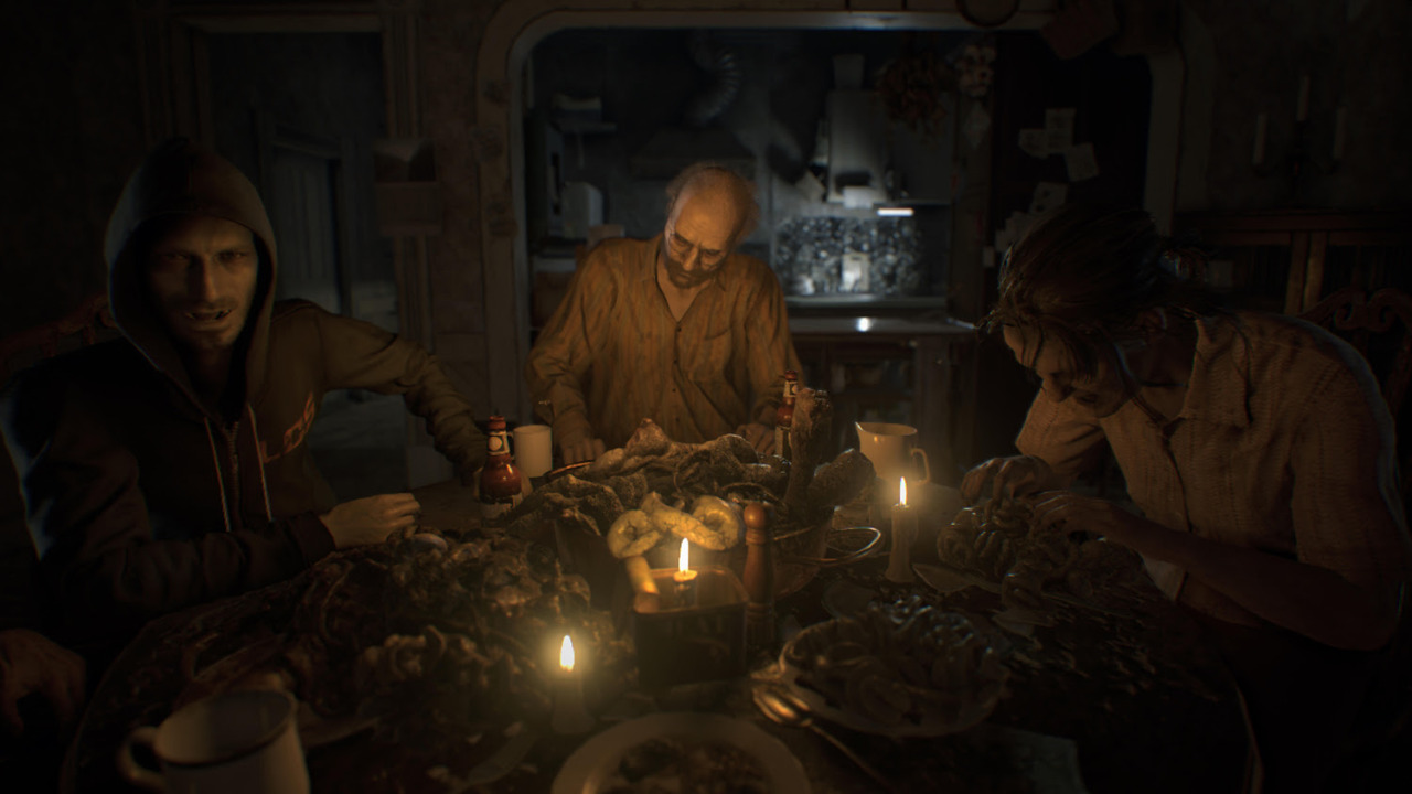 Resident Evil 7 screenshot of insane family