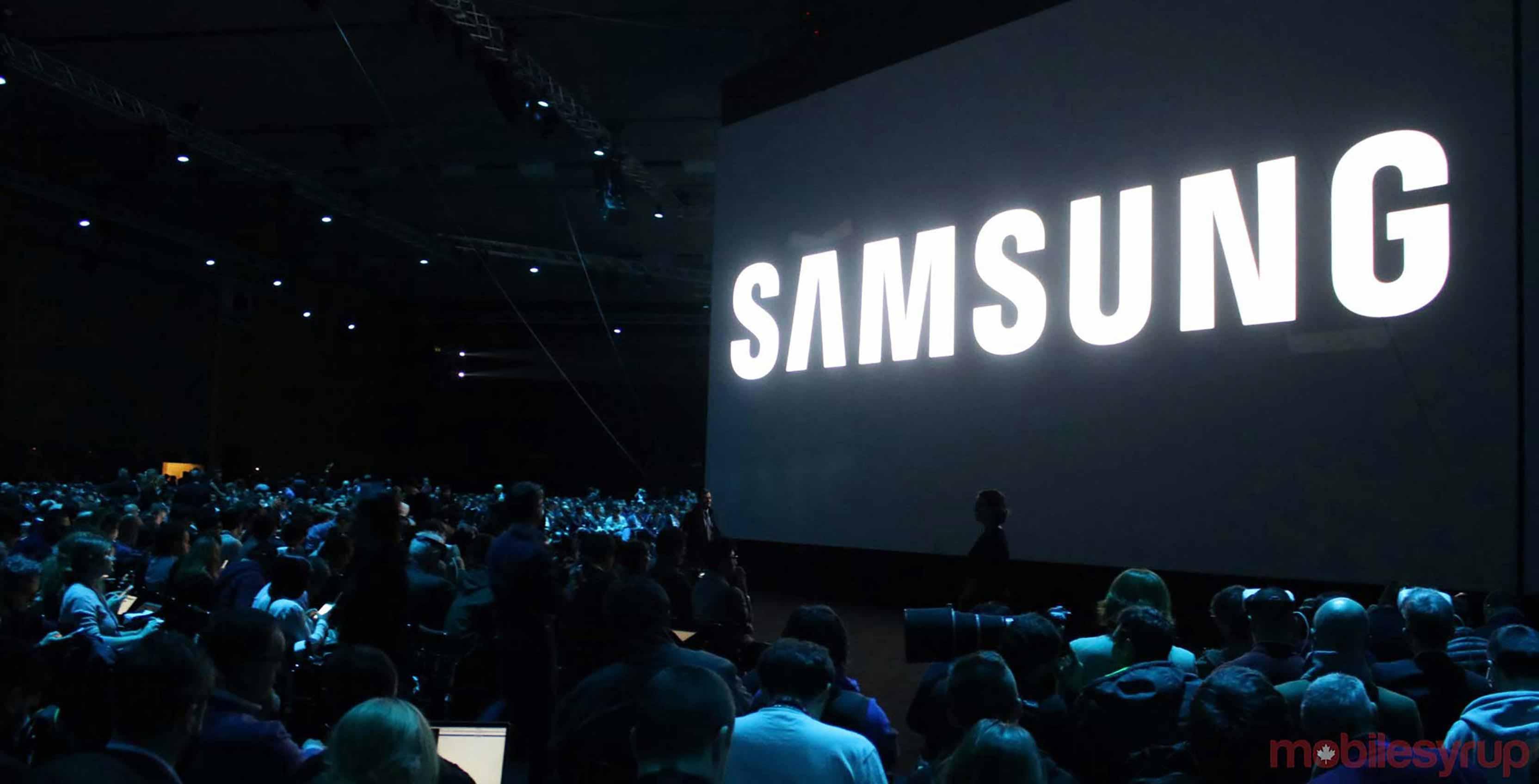 Samsung logo from mobile world congress