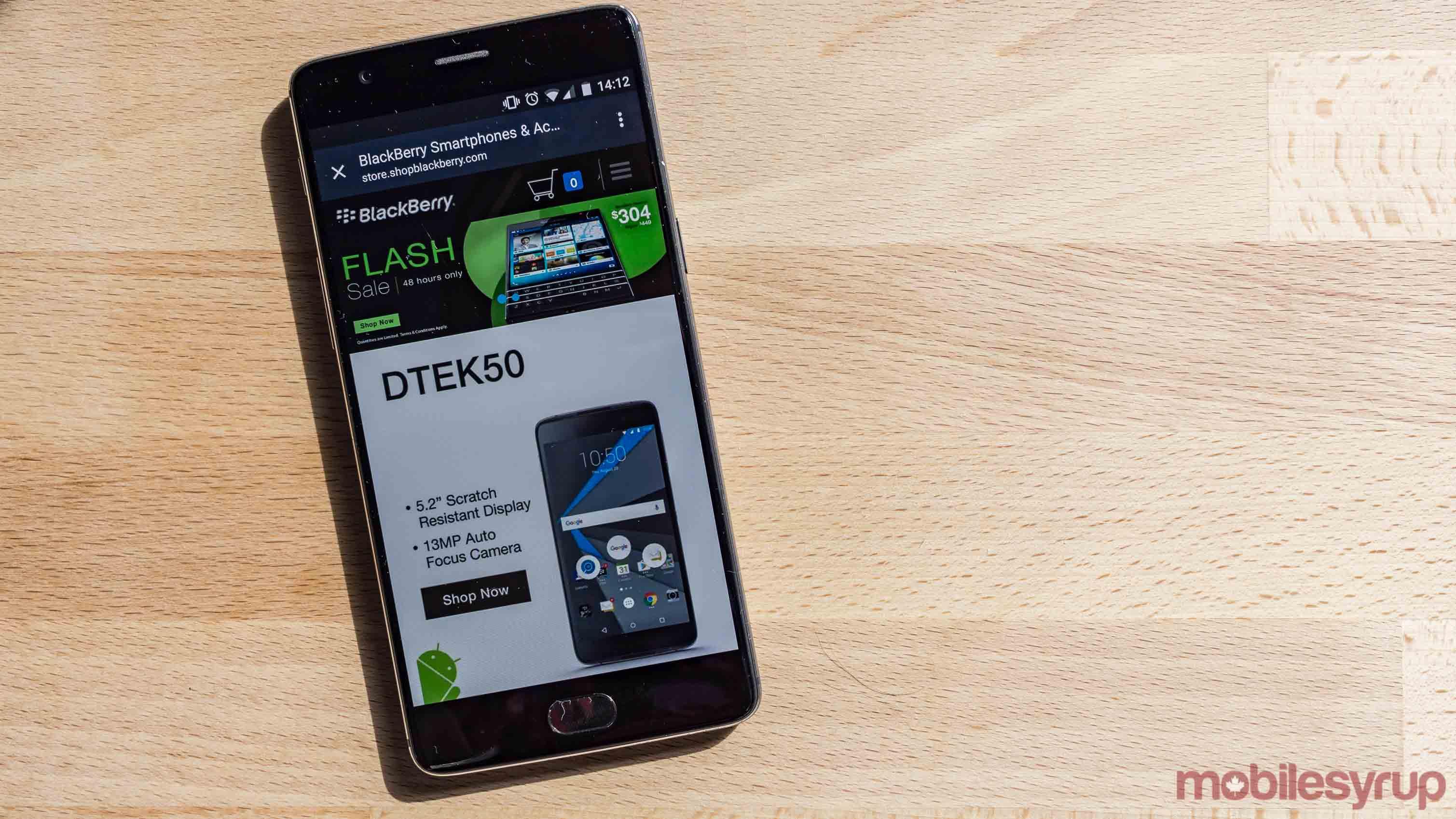 BlackBerry discounts DTEK60, DTEK50 and other devices for 24