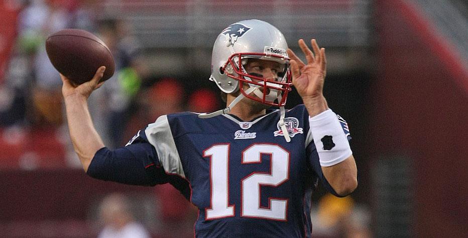 Tom Brady throwing a ball