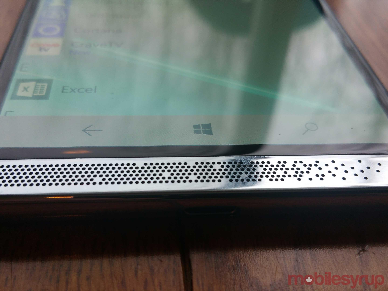 Bottom of X3 smartphone