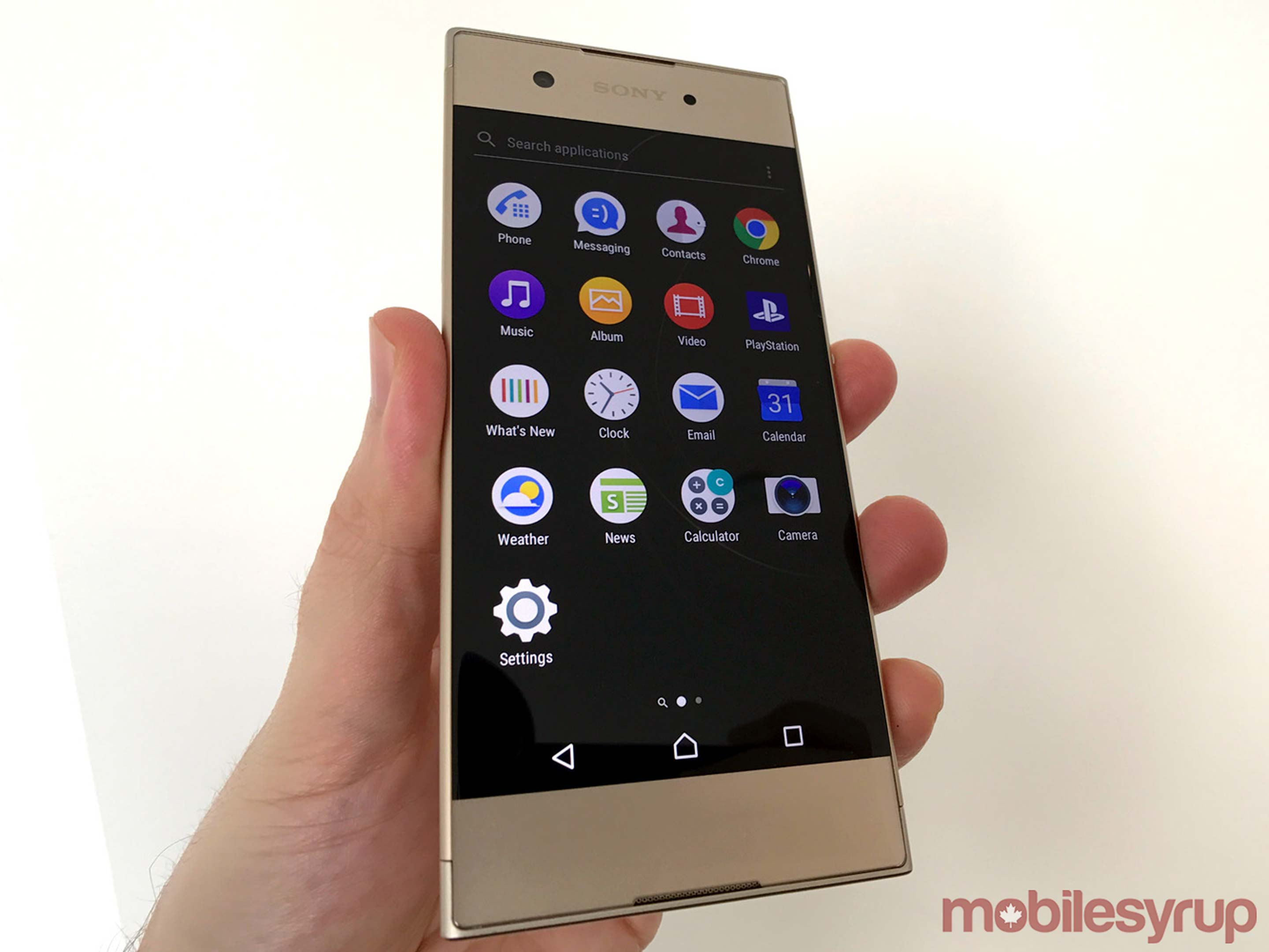 Front photo of Xperia XA1