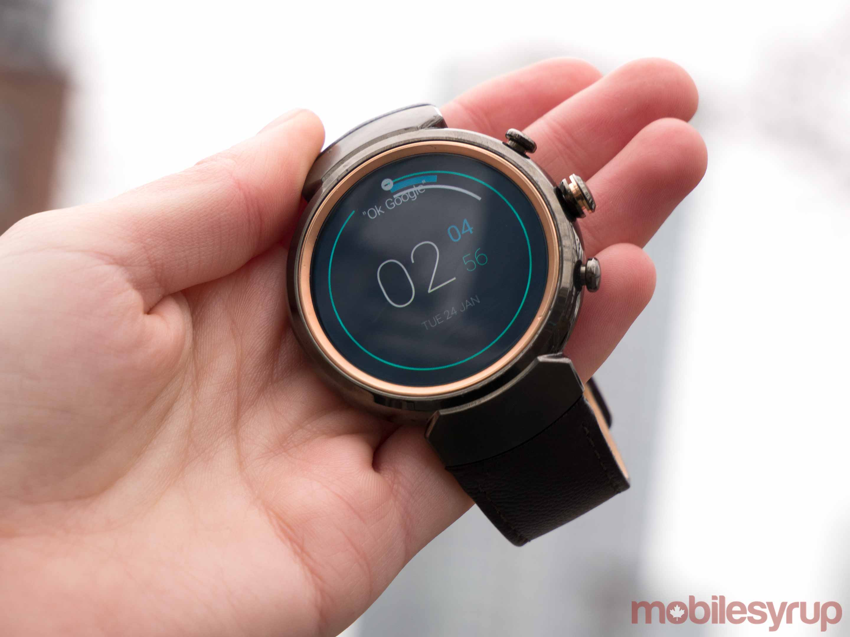 Holding a ZenWatch 3