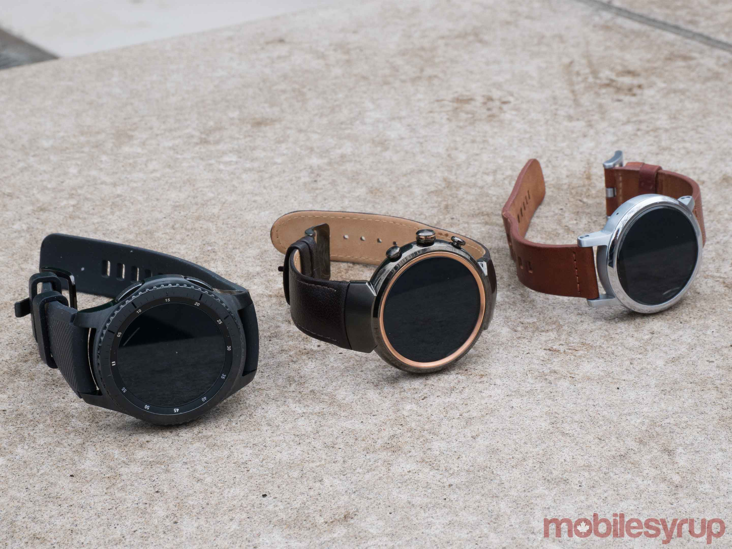 Zenwatch 3 Moto 360 2nd Gen and Gear S3