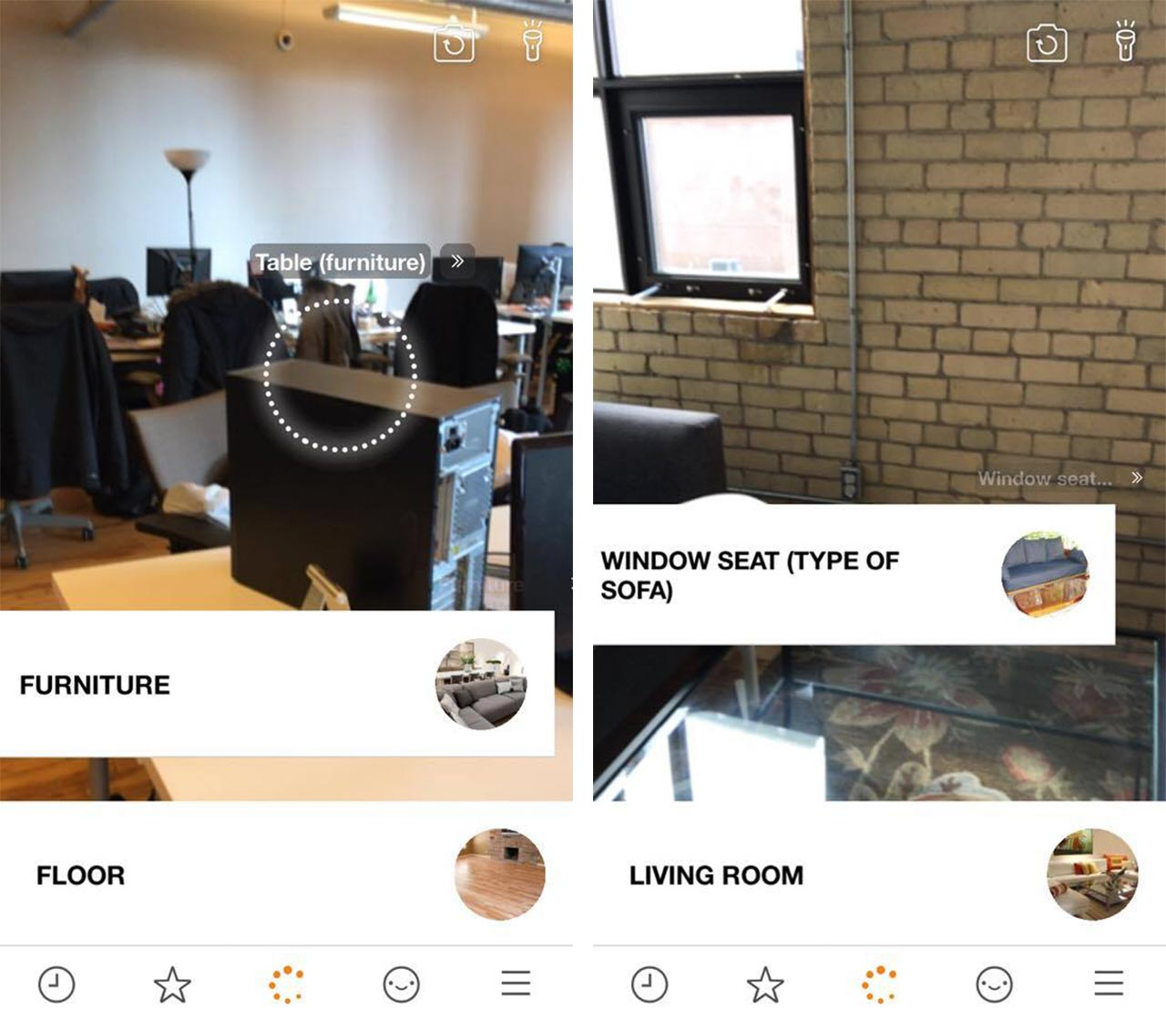 BlippAR App object identification screenshot