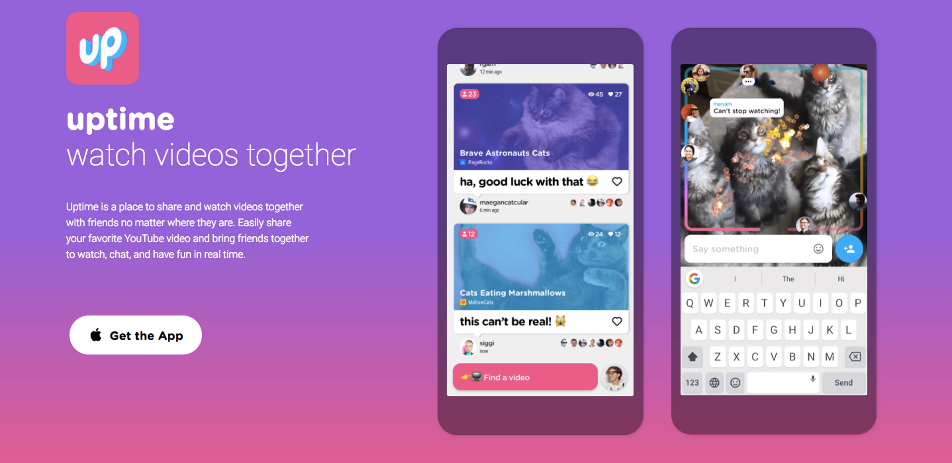 Google's Area 120 releases group video messaging app Uptime