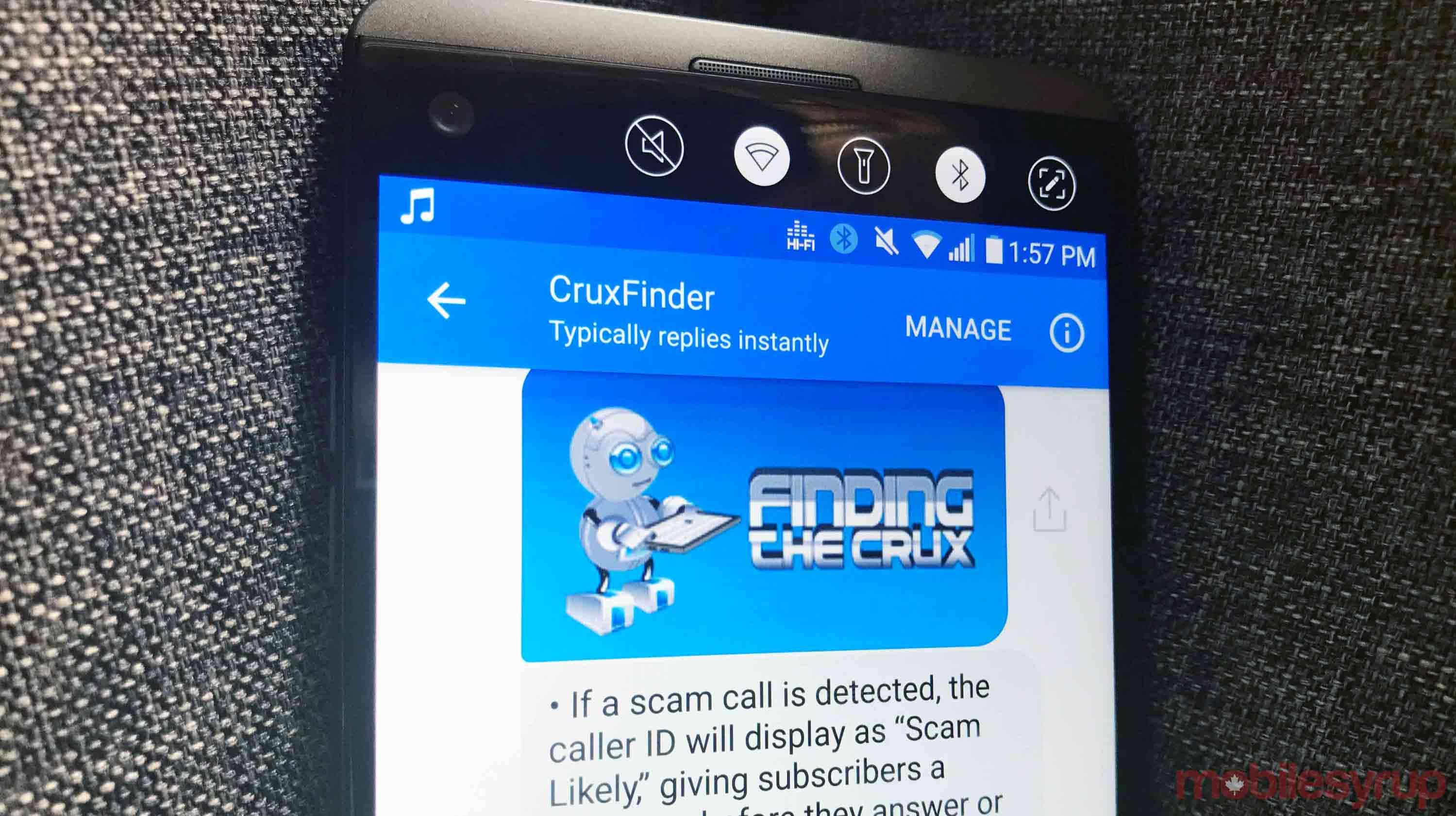 cruxfinder bot screen