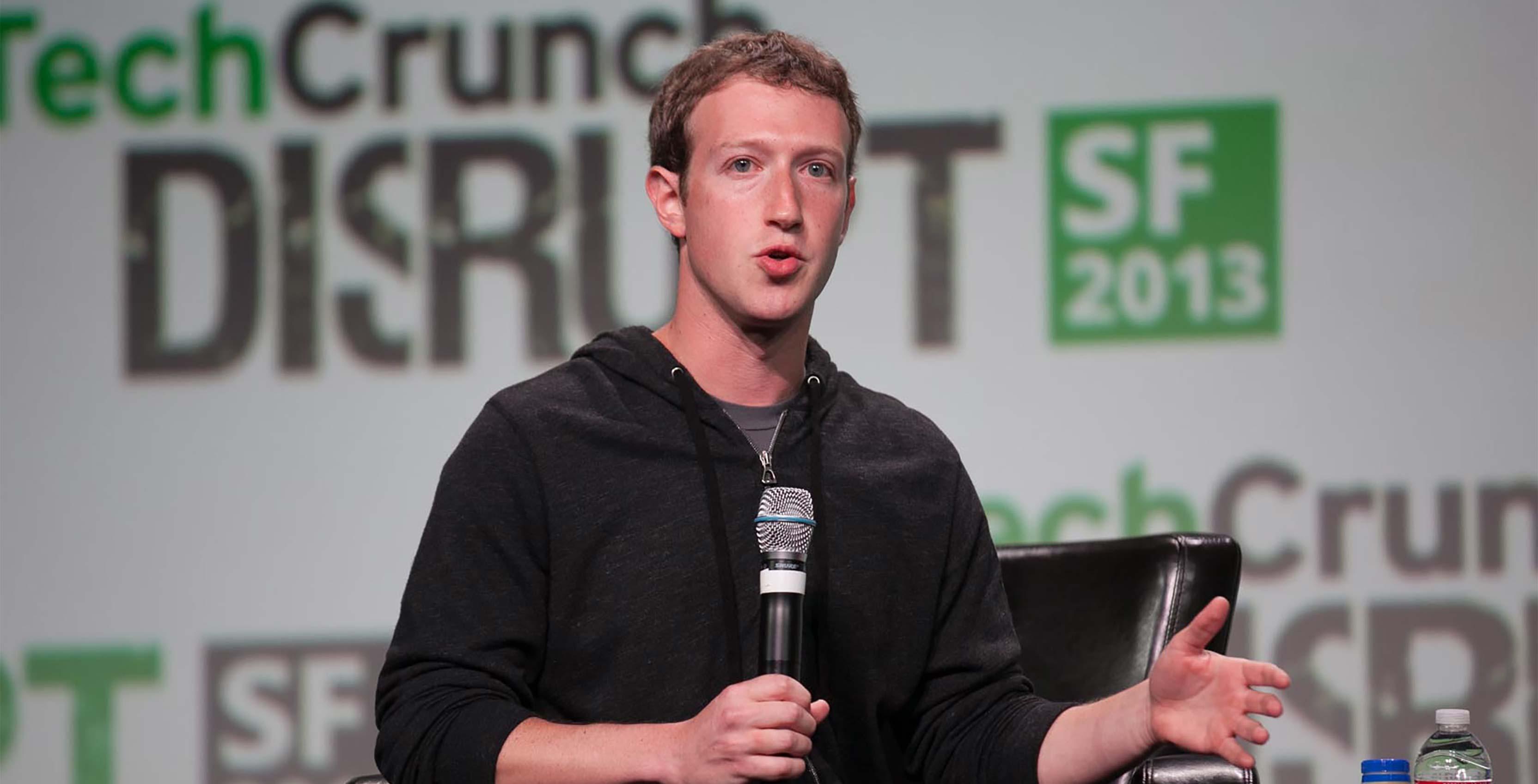 Facebook CEO Mark Zuckerberg at TechCrunch Disrupt 2013