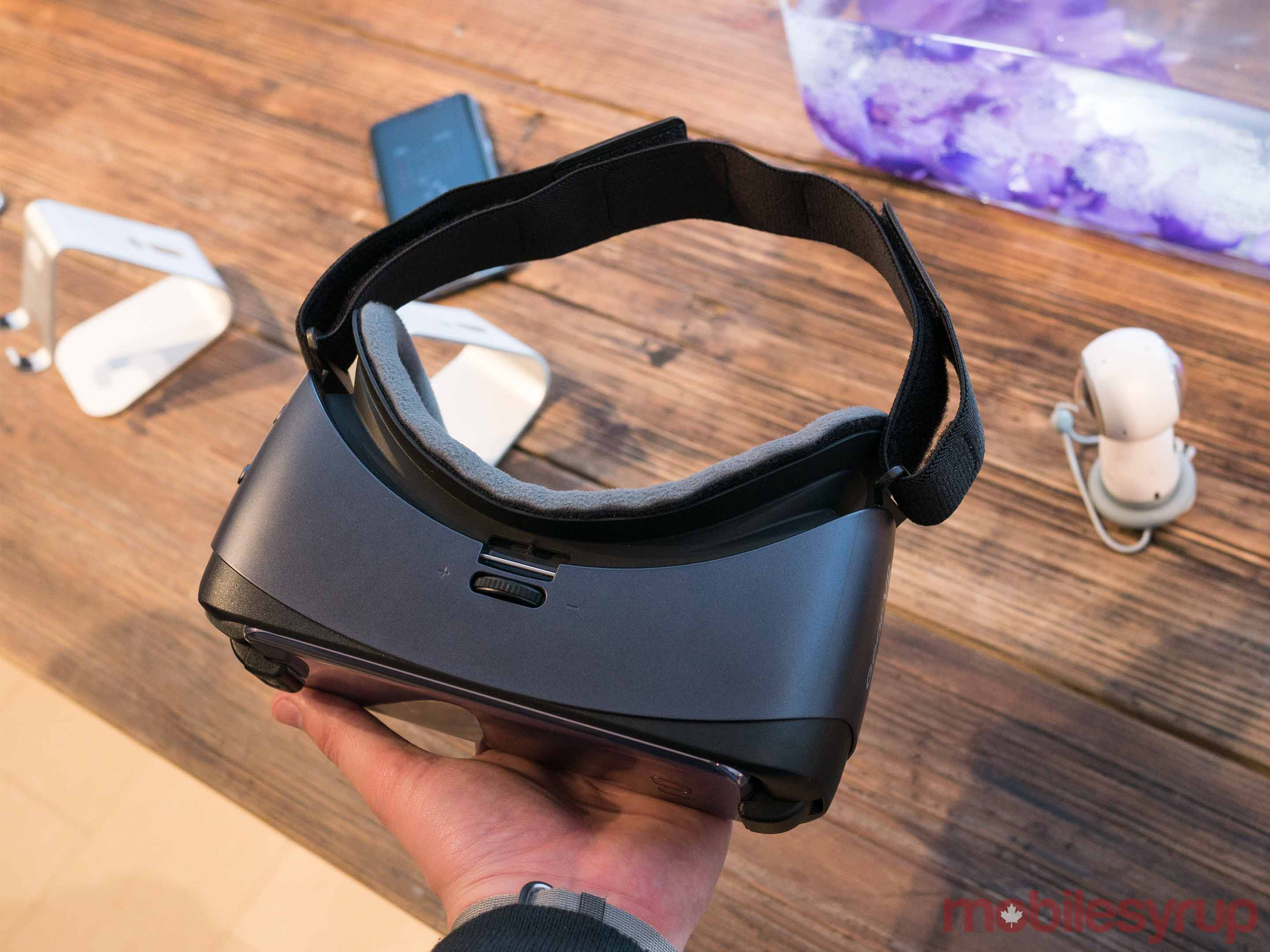 Gear VR in hand