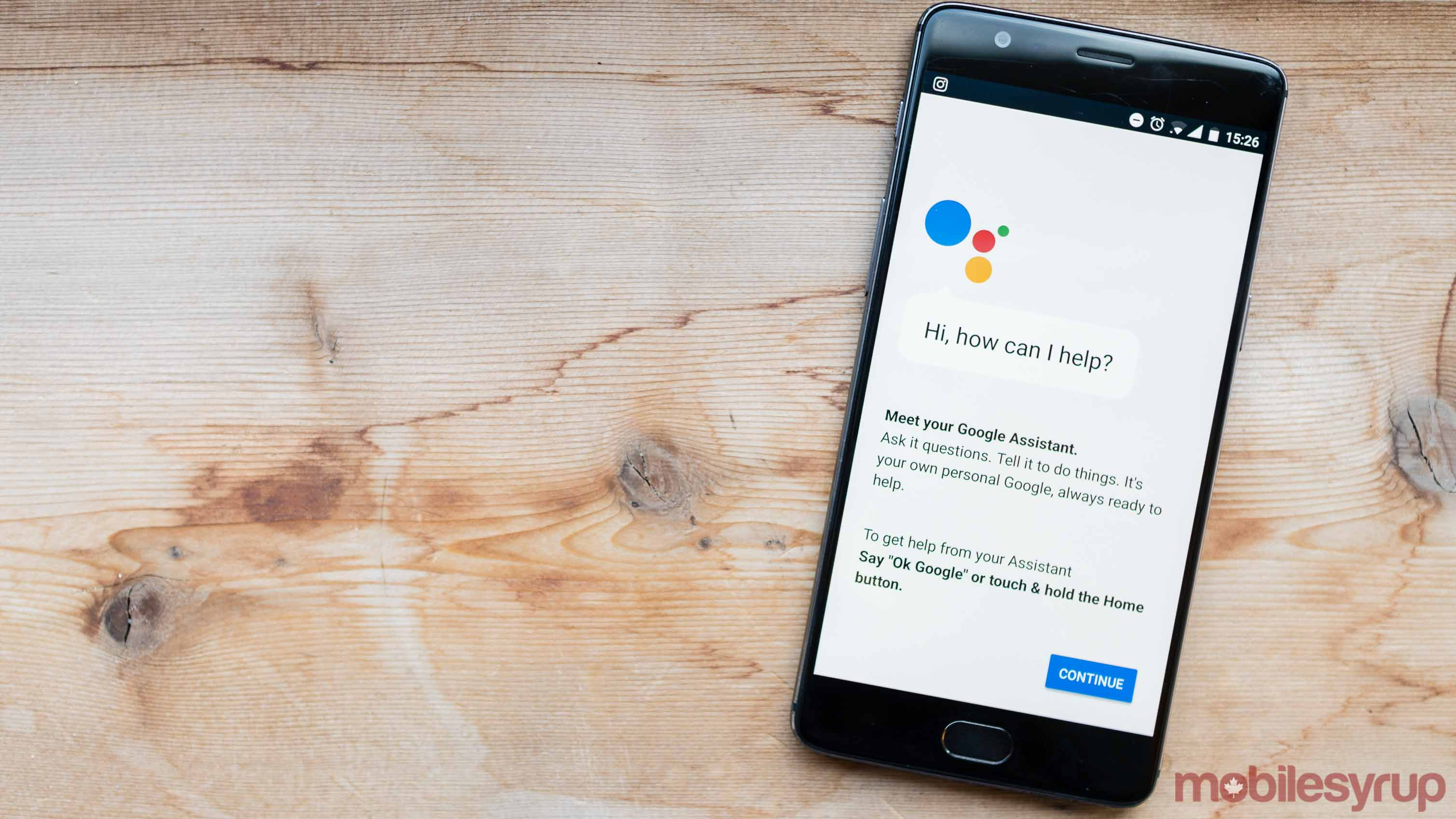Google Assistant running on OnePlus 3T