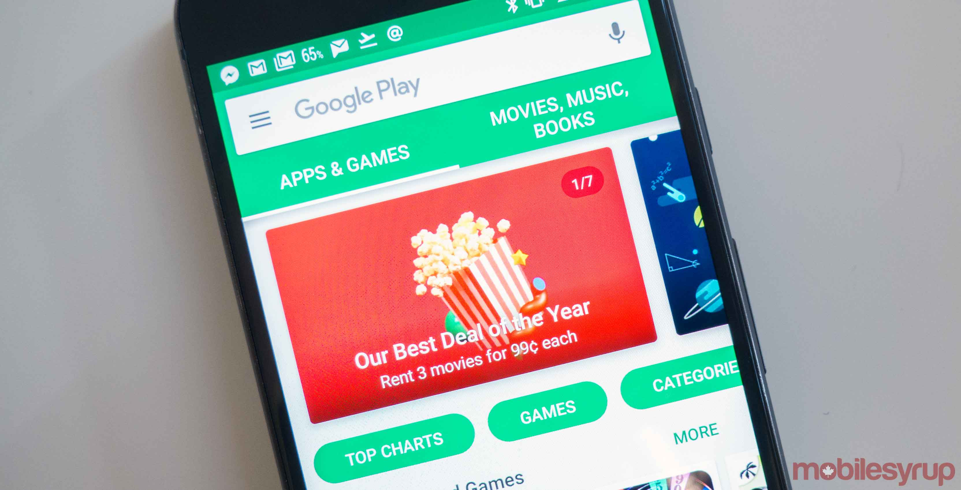 Google Play Store storefront