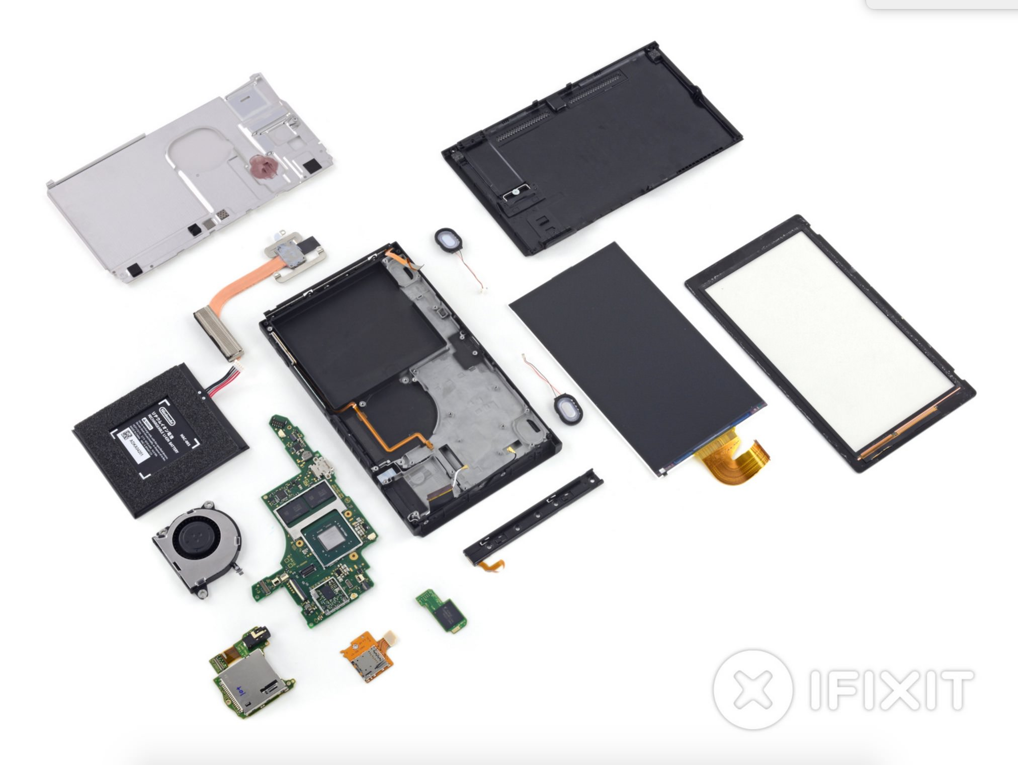 Switch tablet disassembled