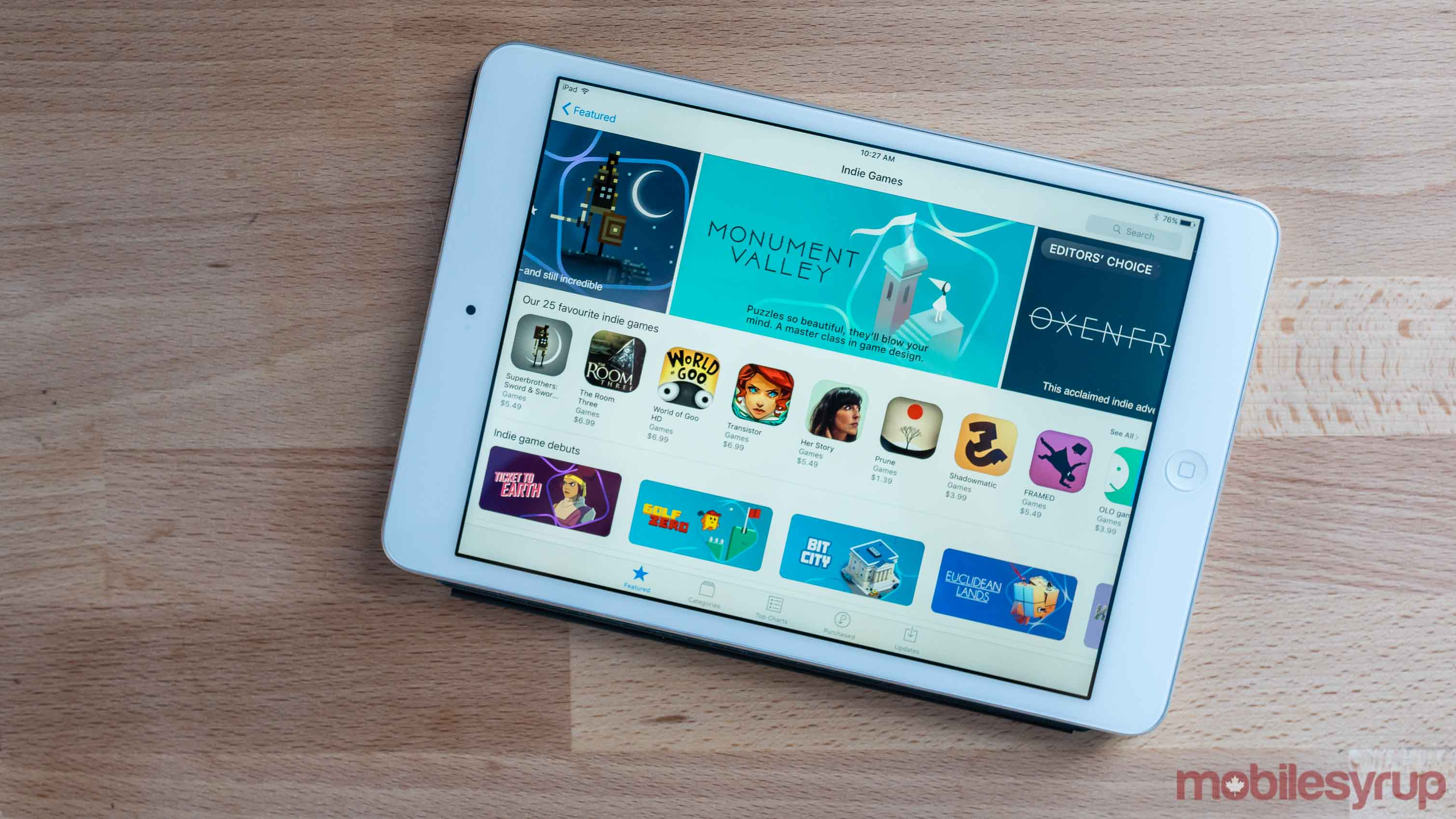 iTunes App Store Indie Games Celebration page - iOS games