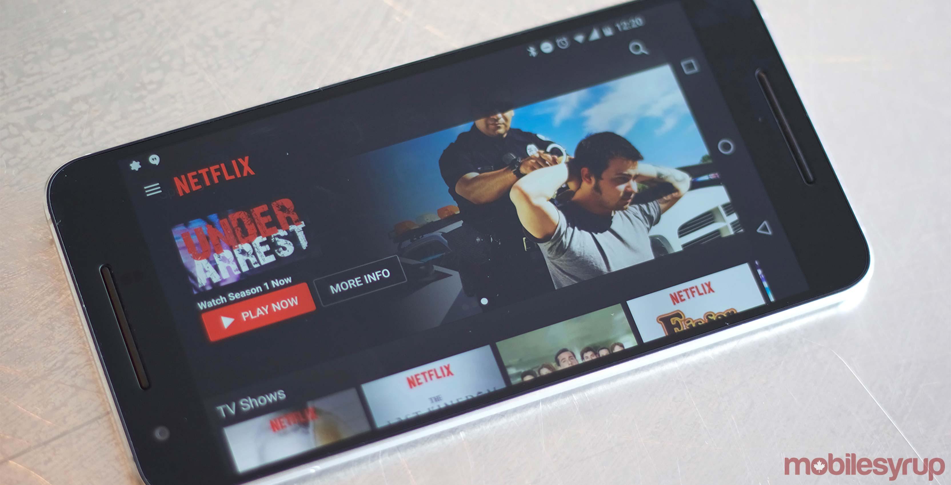 Netflix app on screen - Netflix hdr