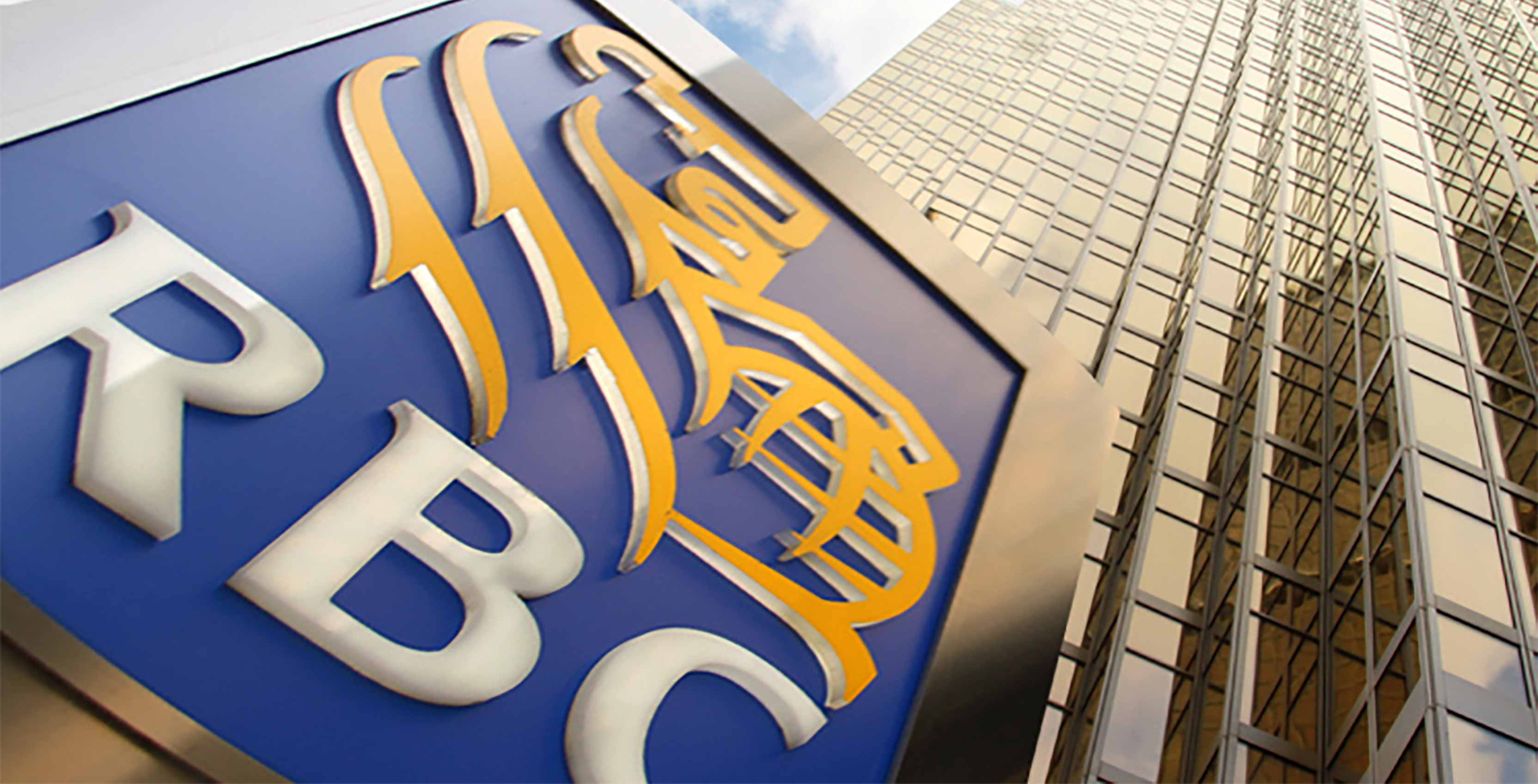 RBC logo in front of office building - RBC e-transfer