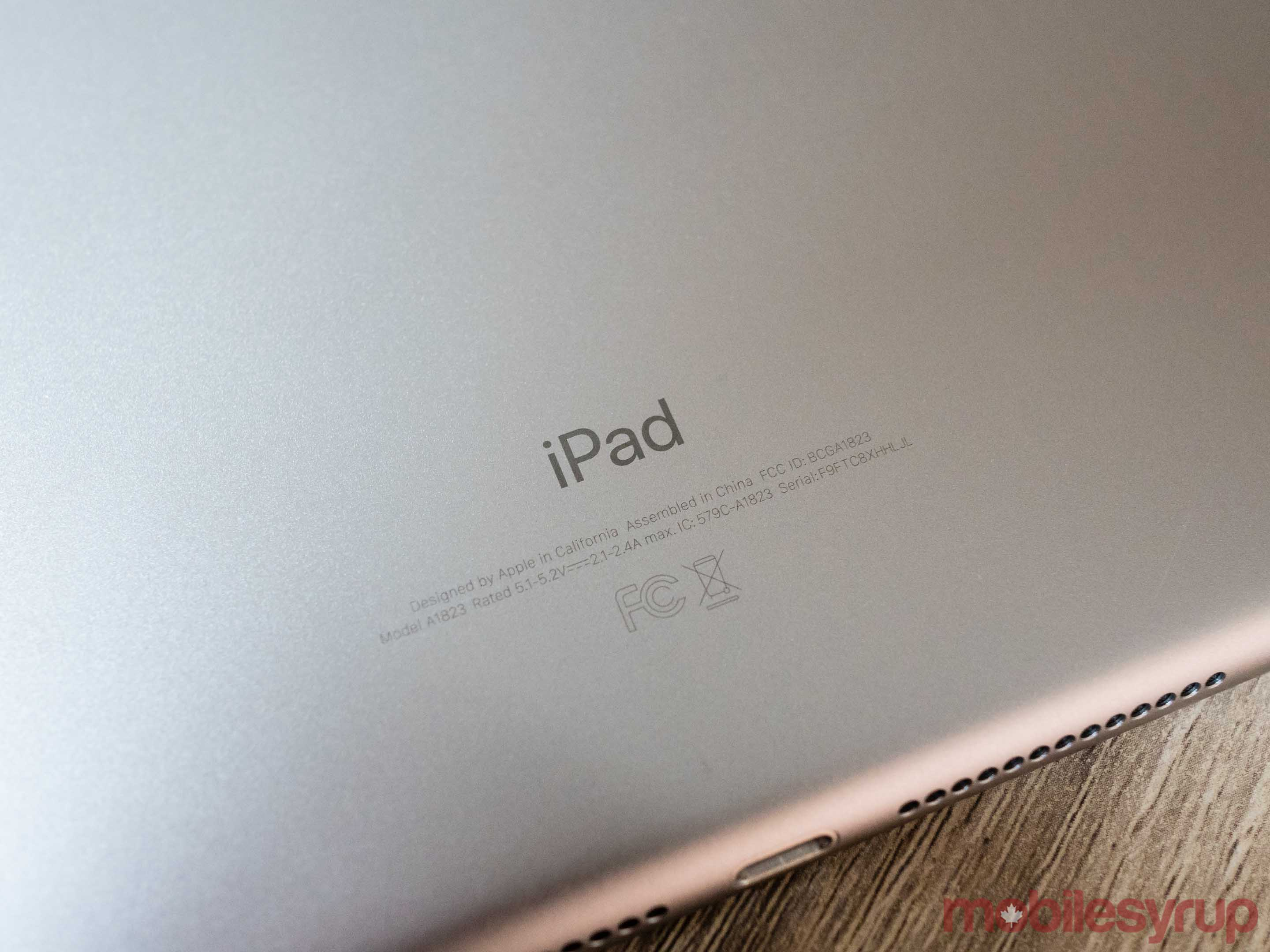 Back of 2017 Apple iPad