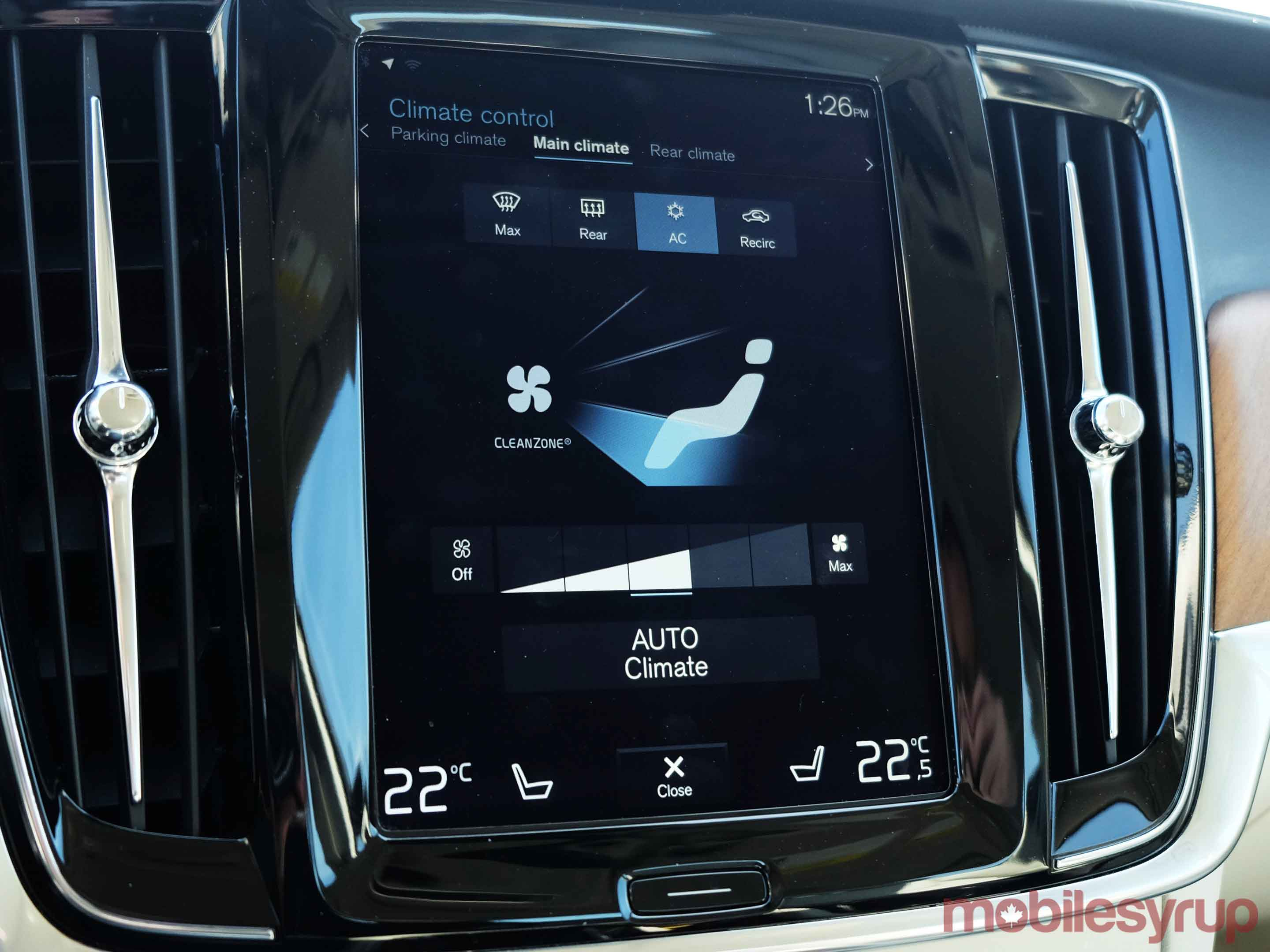 Volve S90 climate control