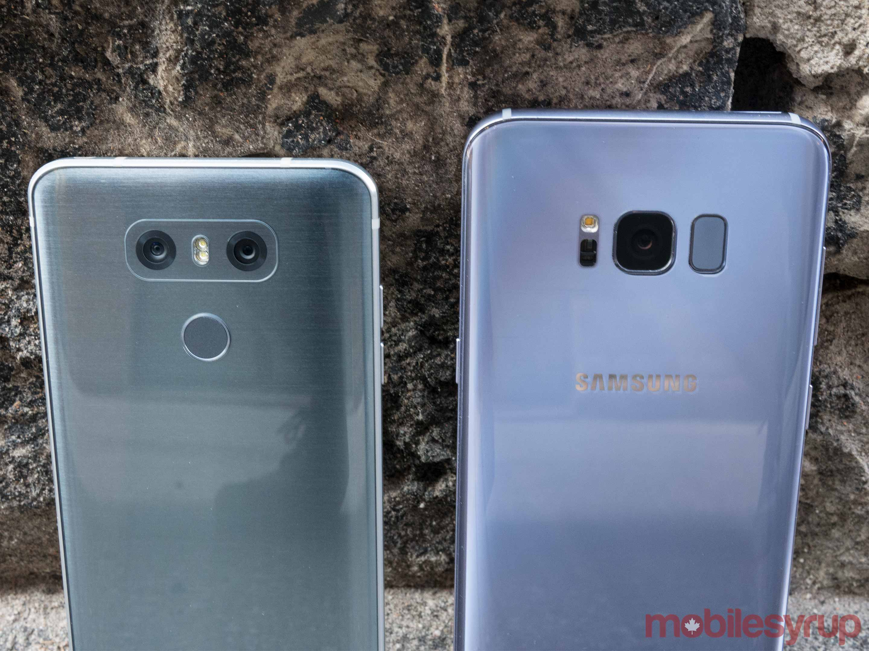 Galaxy S8+ and G6 backs