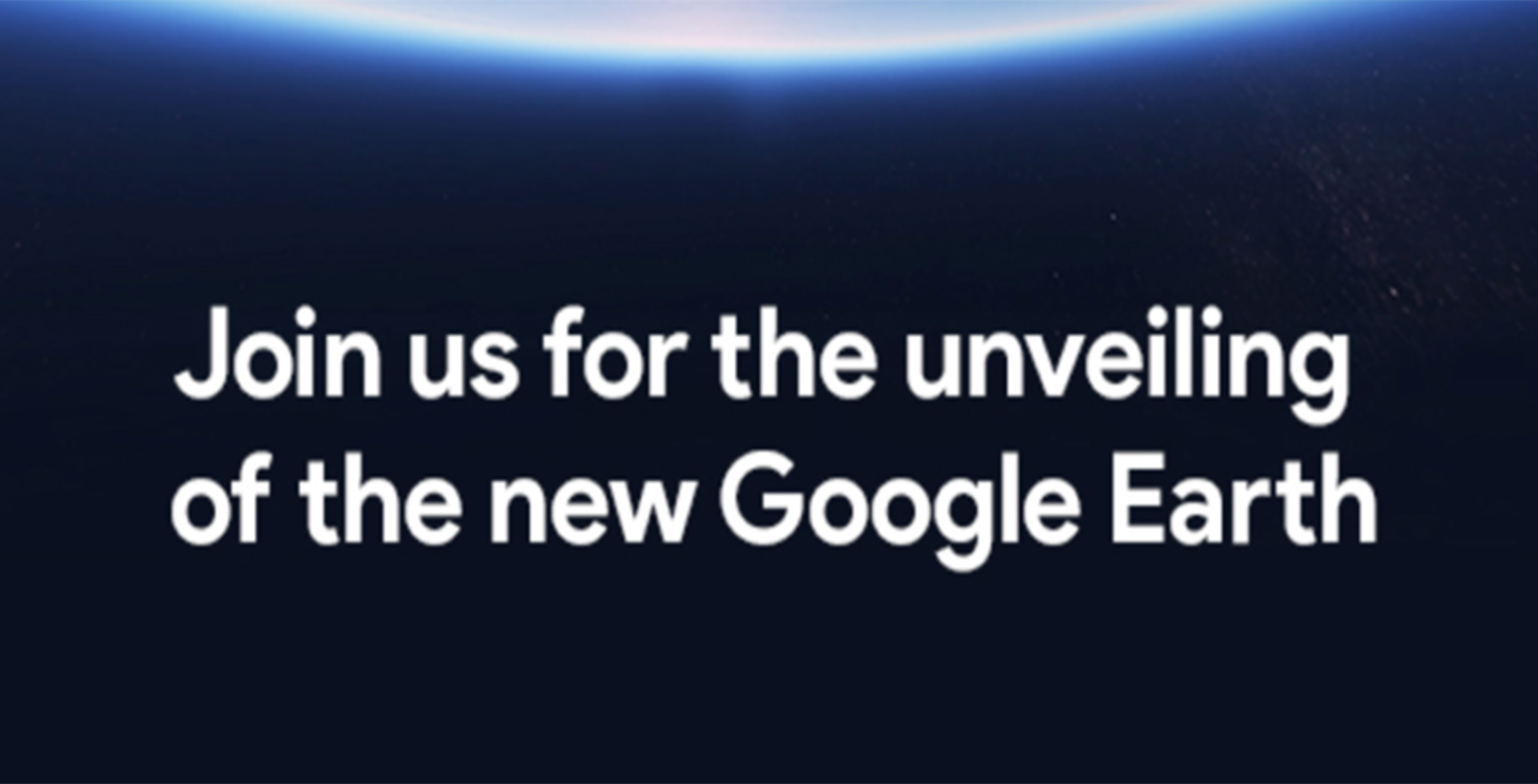 New Google Earth press event invite