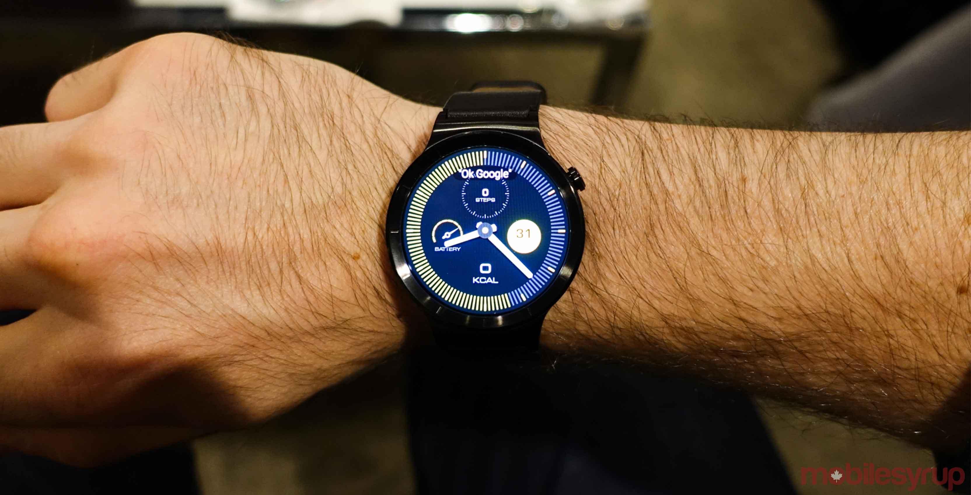 Huawei Watch 2 on wrist