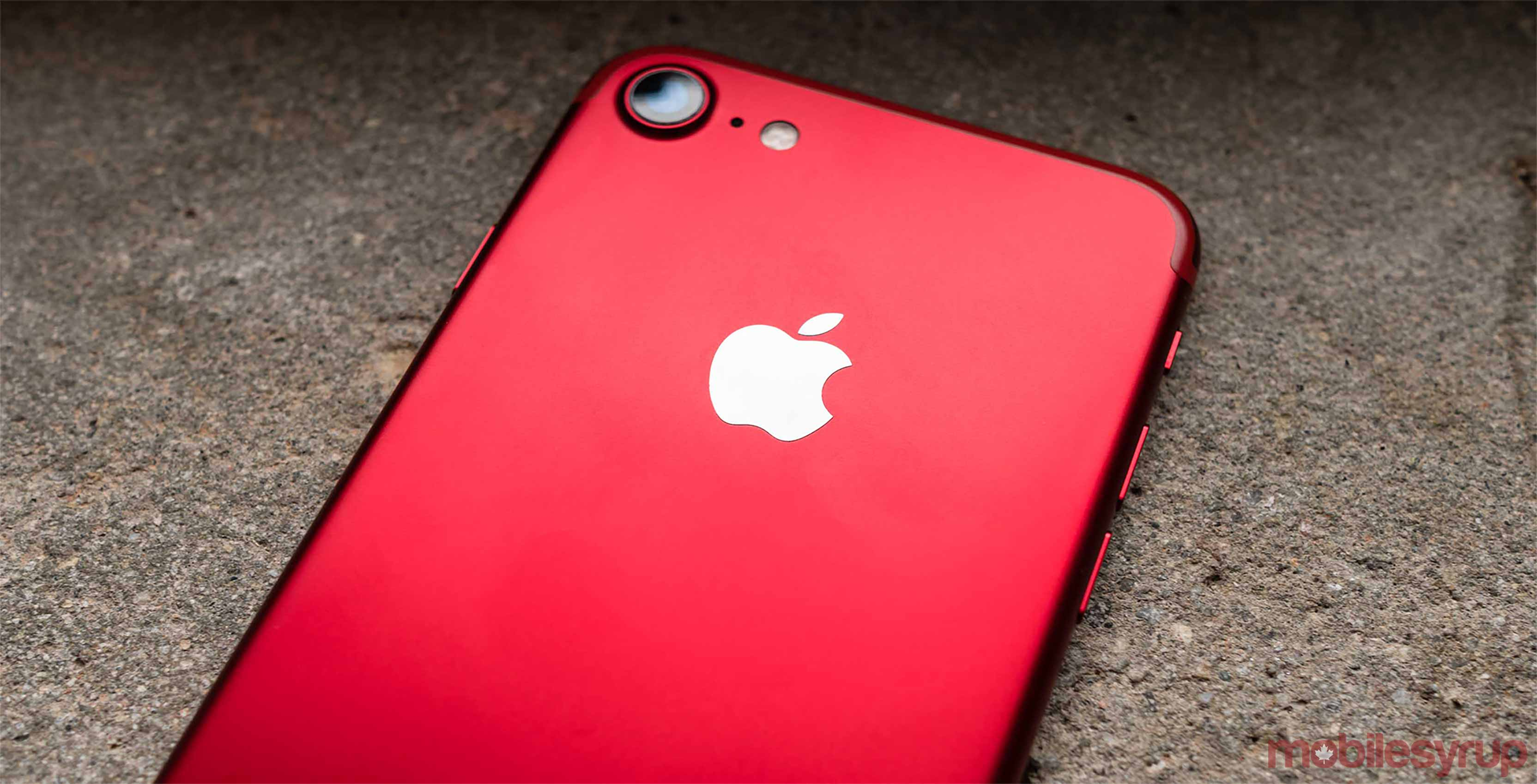 Back of Product Red iPhone 7