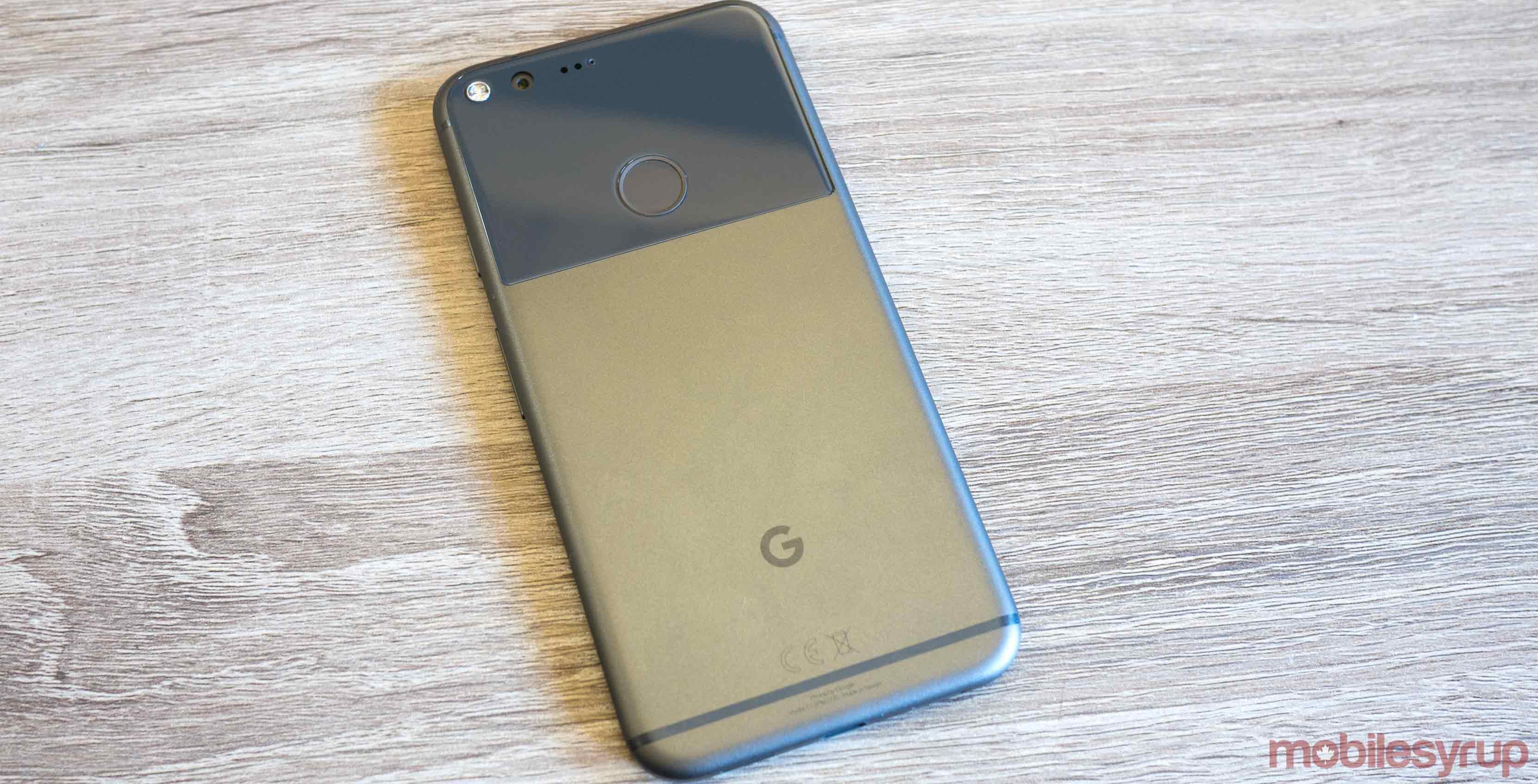 Pixel smartphone on desk