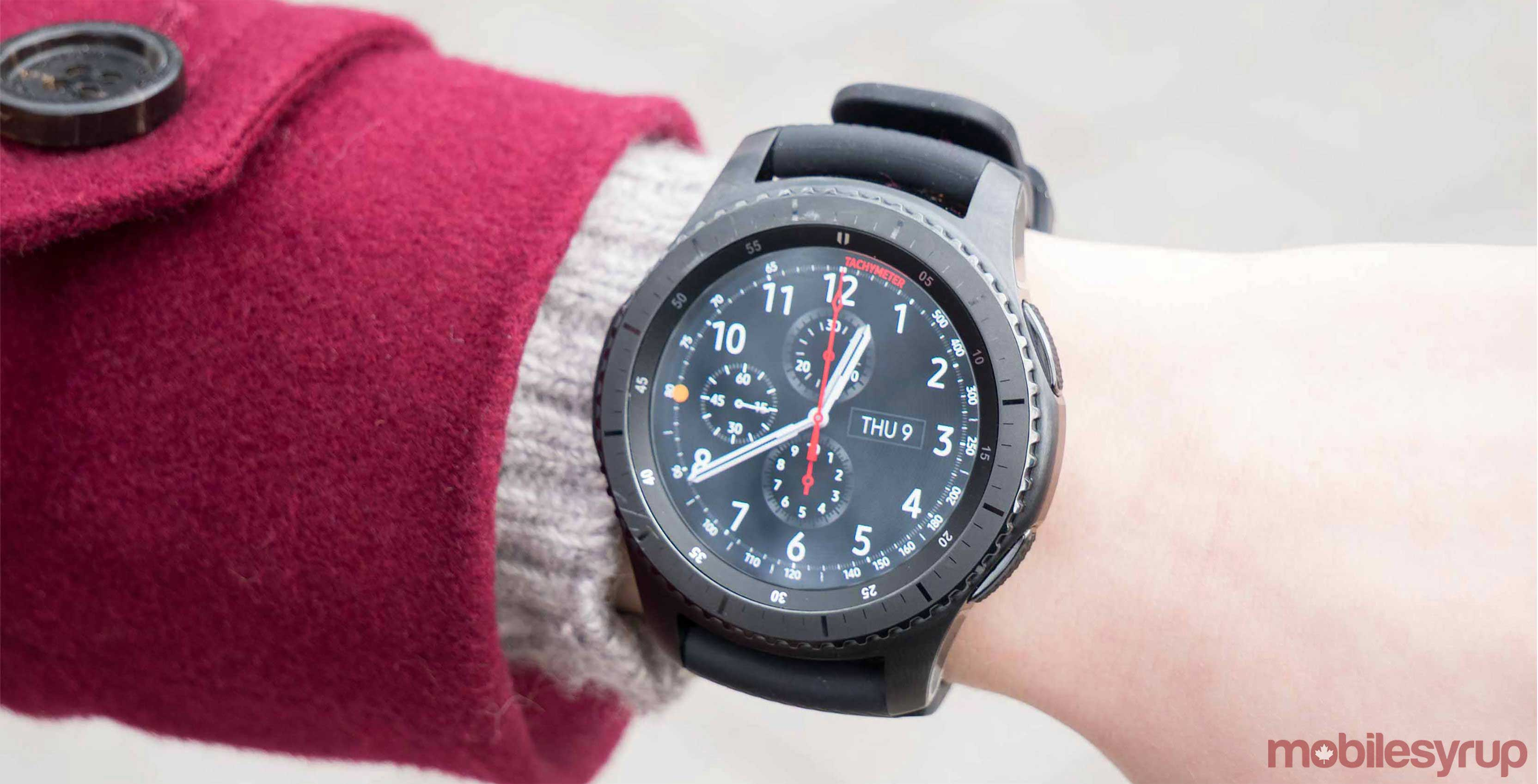 Gear S3 on arm