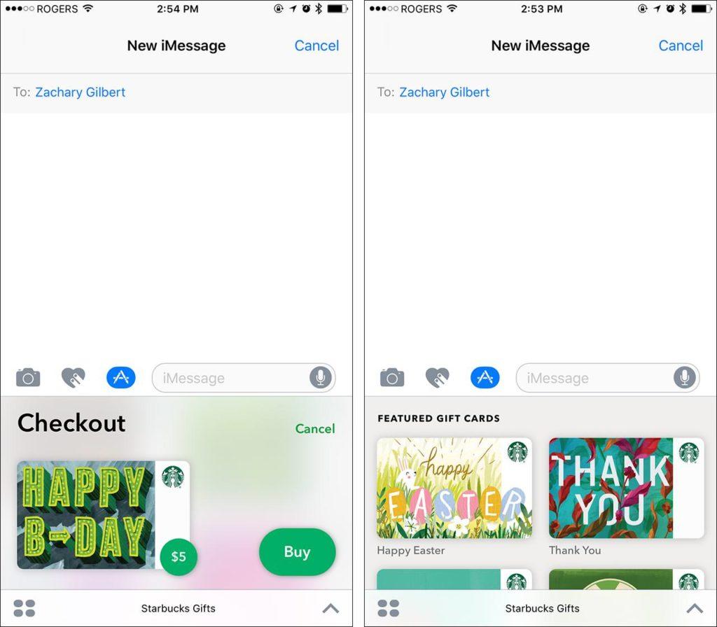 Starbucks mobile order screenshot