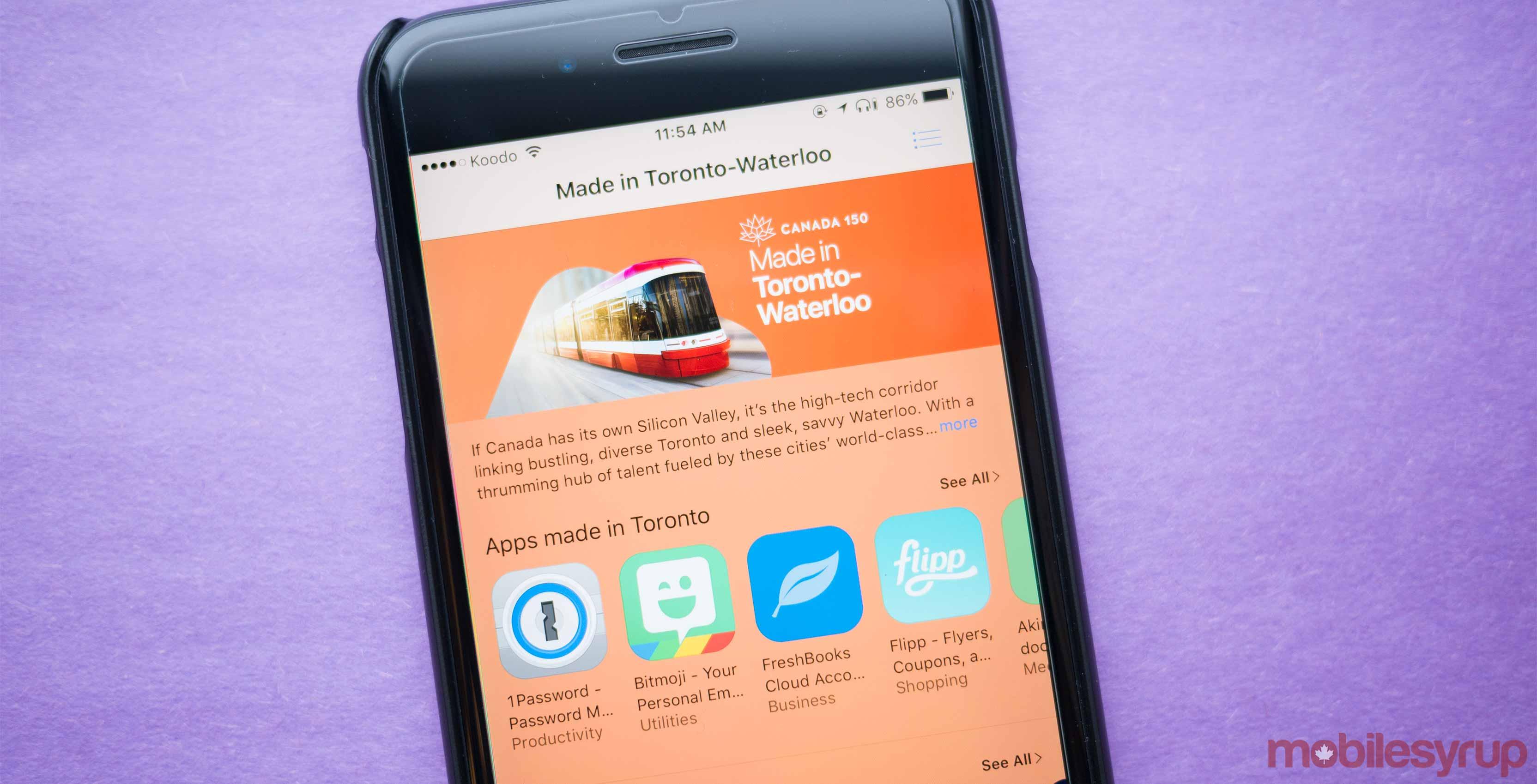 Toronto-Waterloo App Store