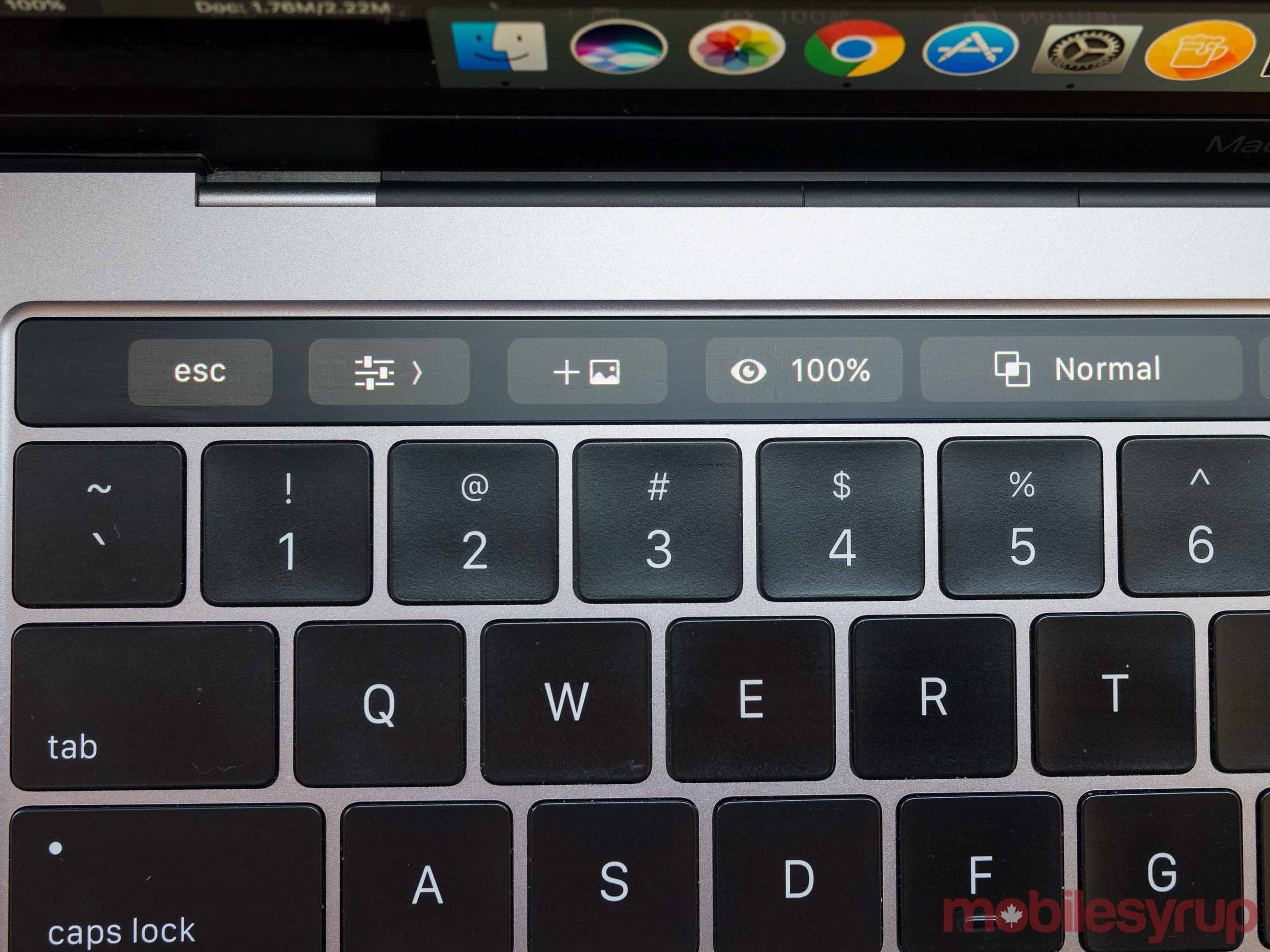 MacBook Pro Touch Bar Adobe Premiere