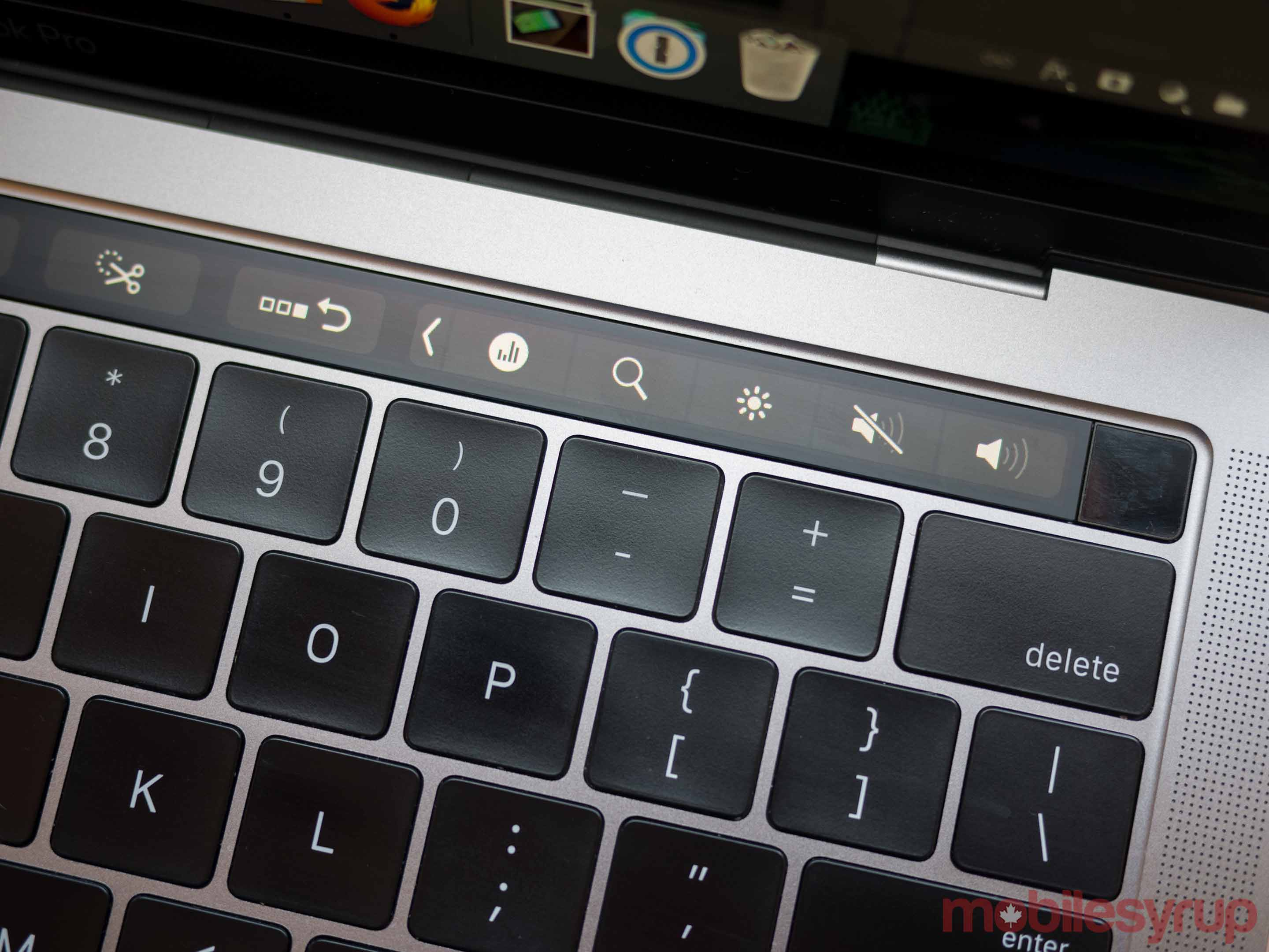 MacBook Pro Touch Bar apps