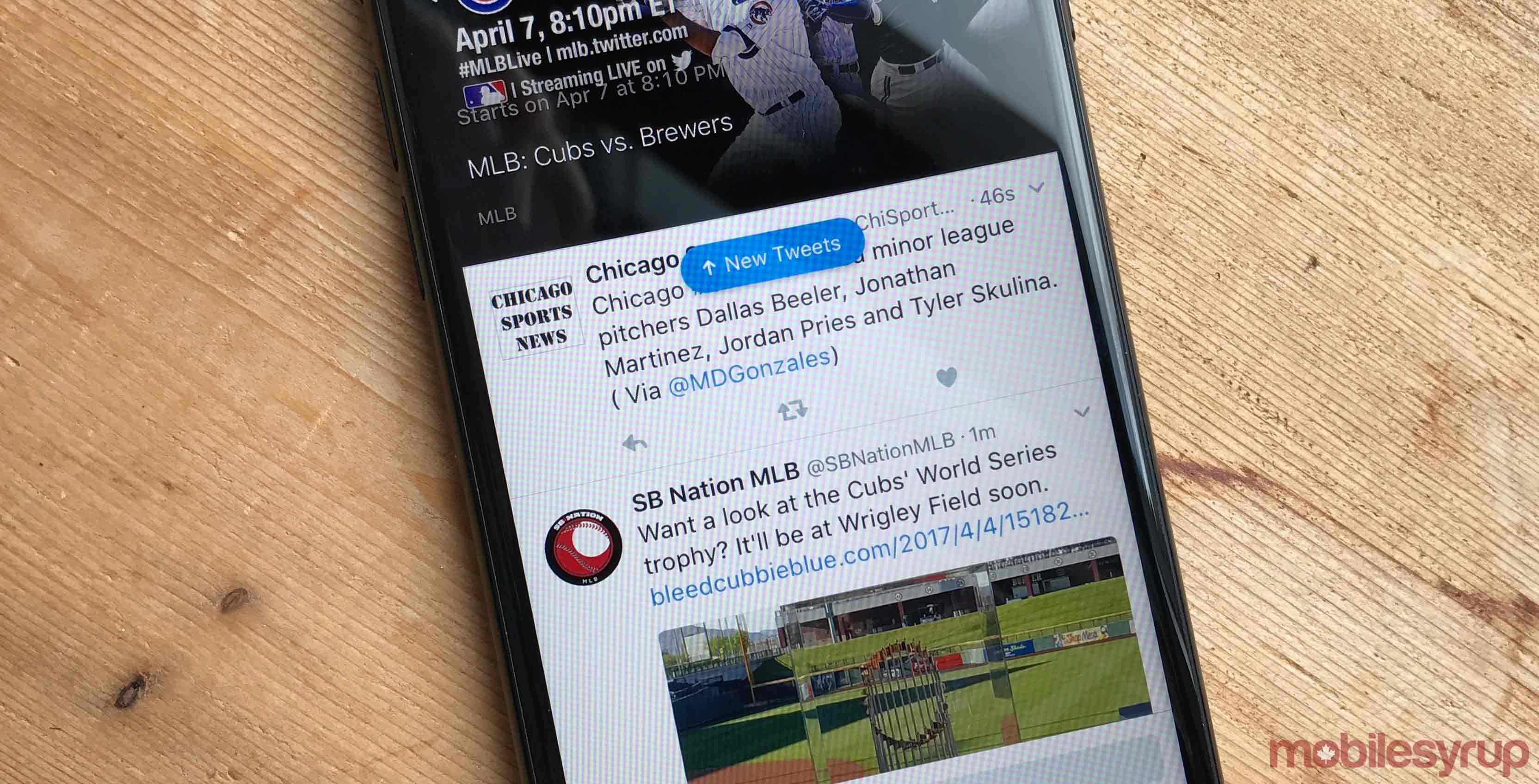 twitter mlb on iPhone