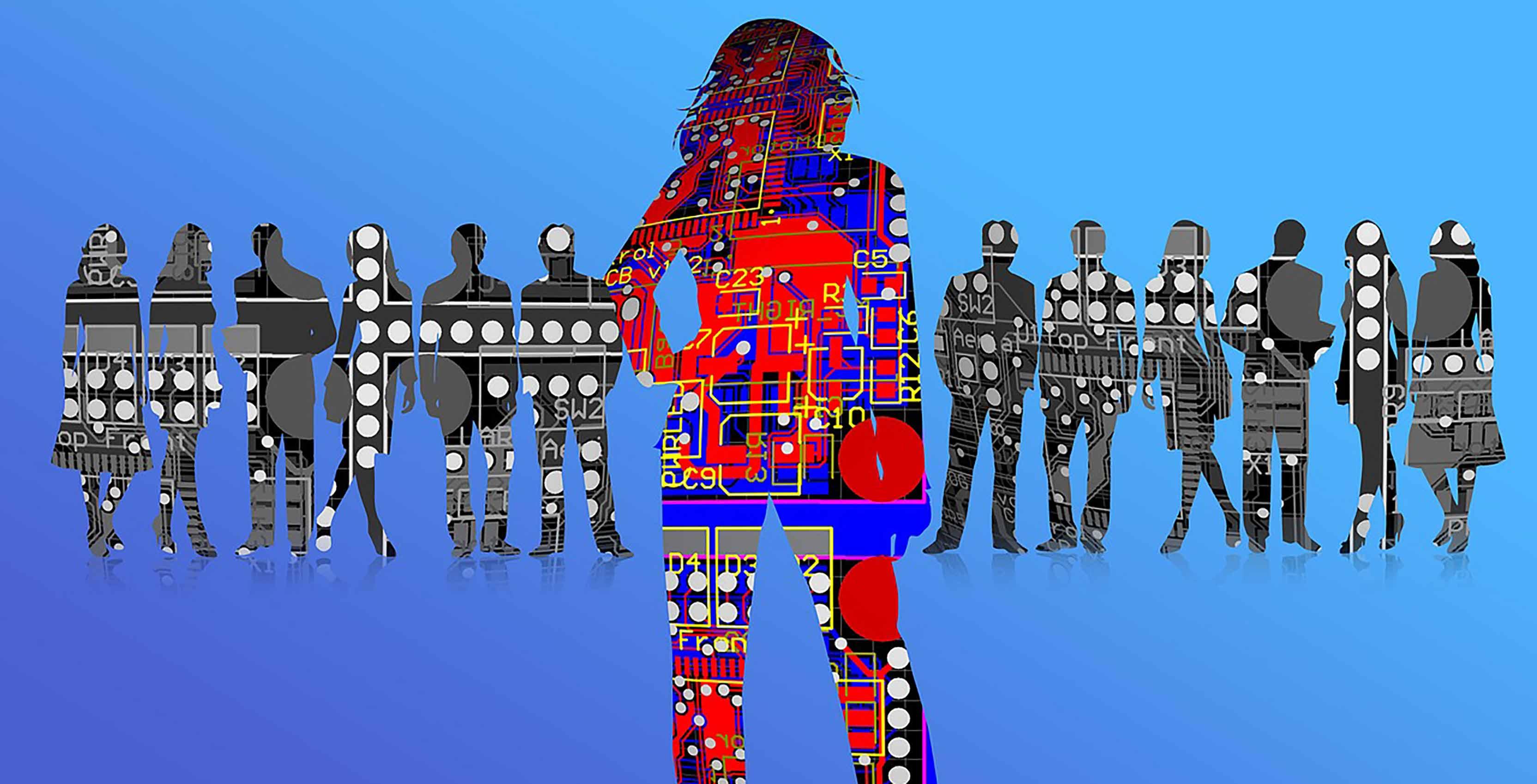 AI silhouettes