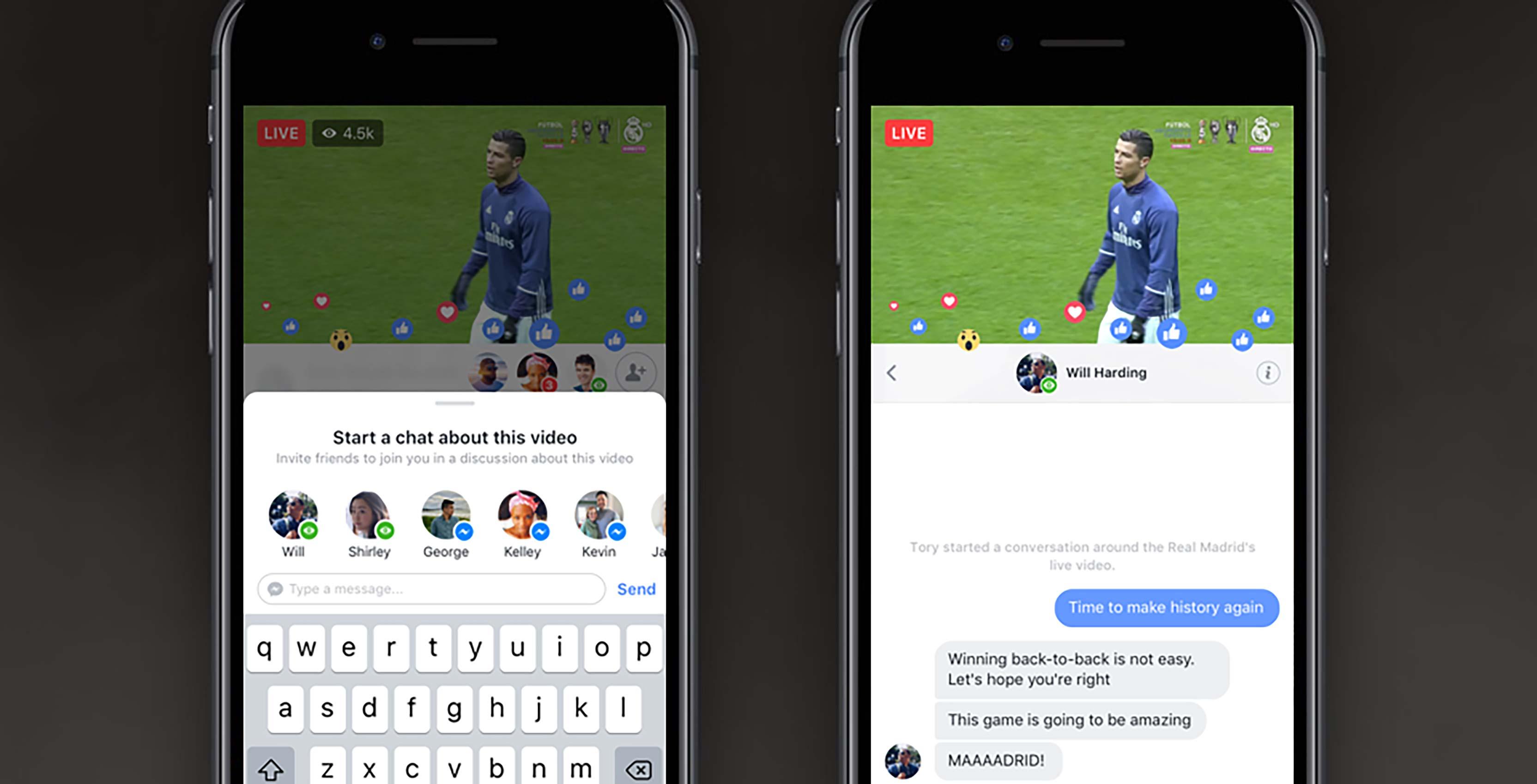Facebook Live Video soccer