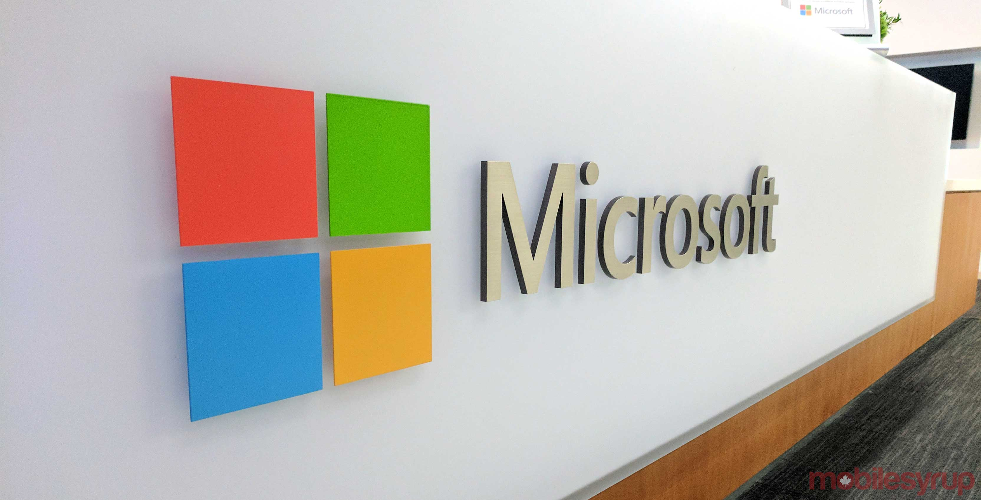 Microsoft logo with white background
