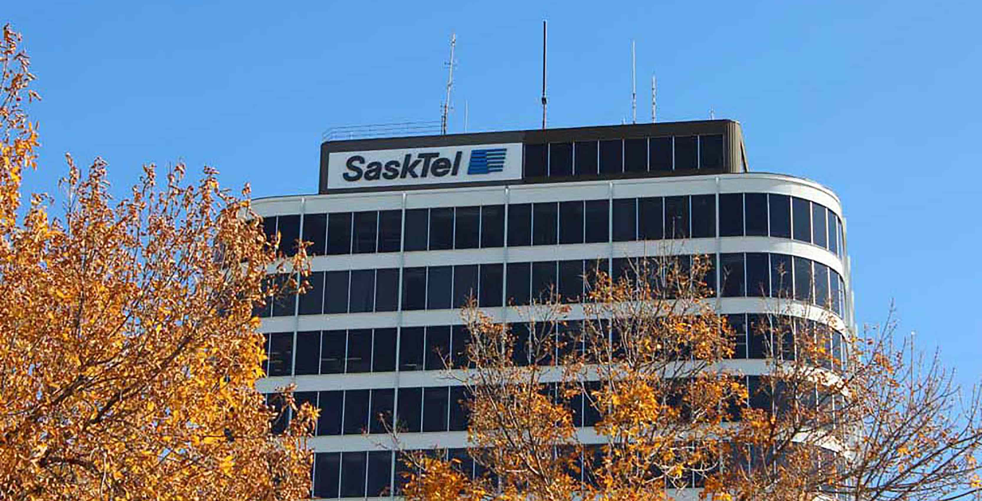 SaskTel HQ in the fall