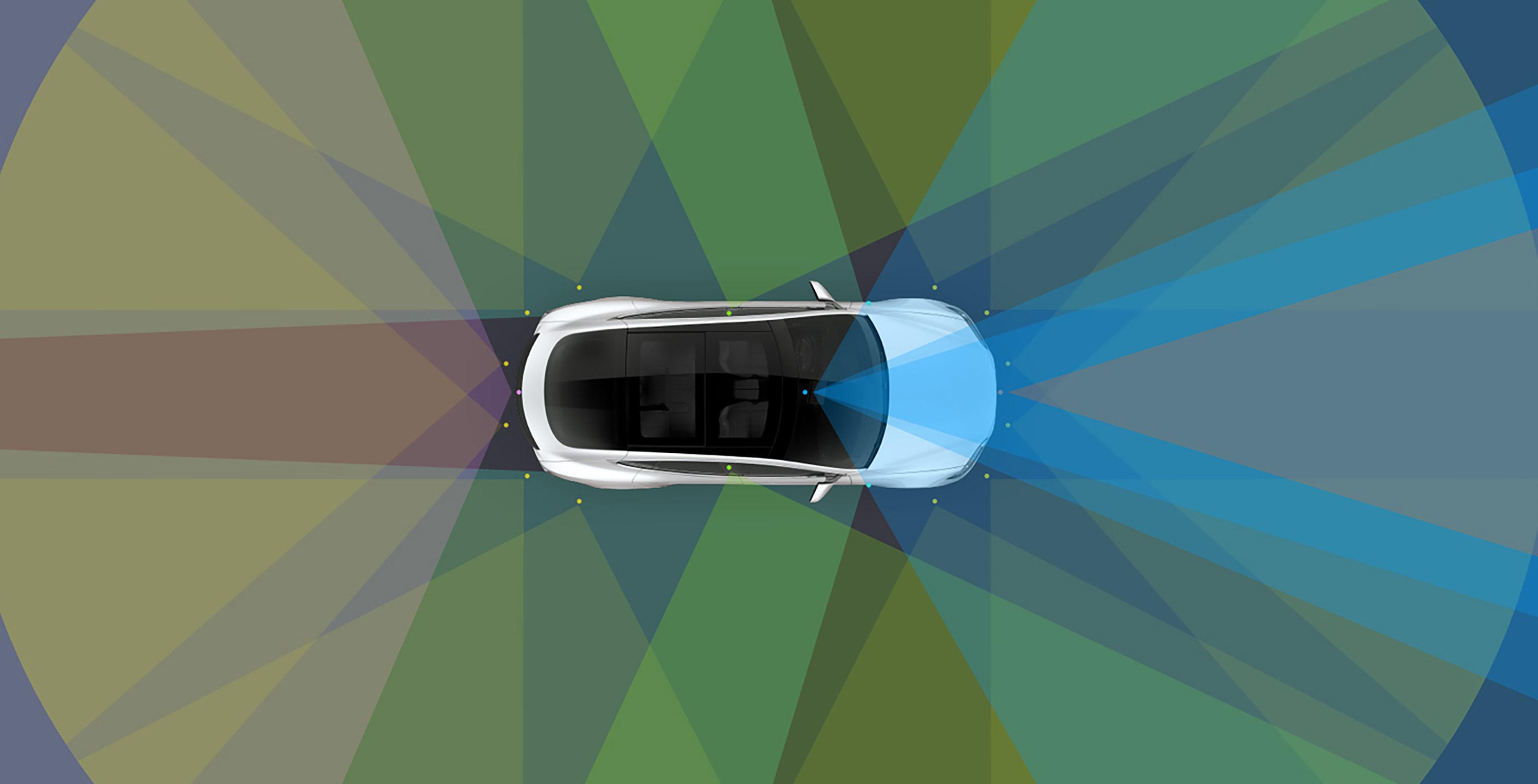 Tesla Autopilot render