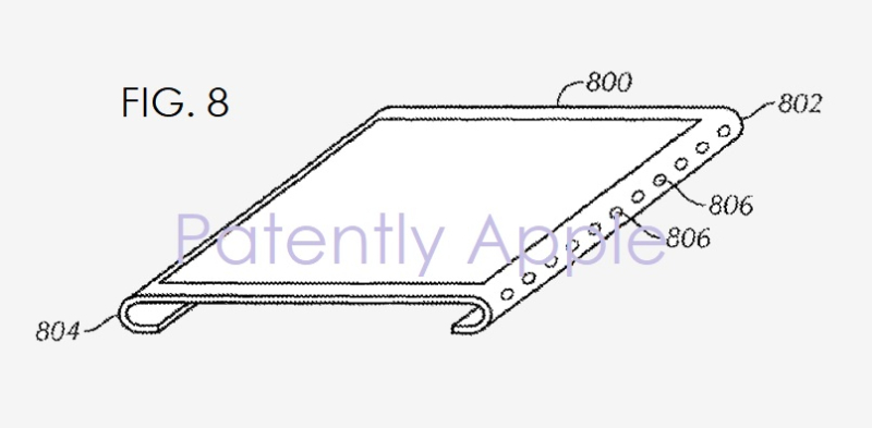 Apple edge display patent