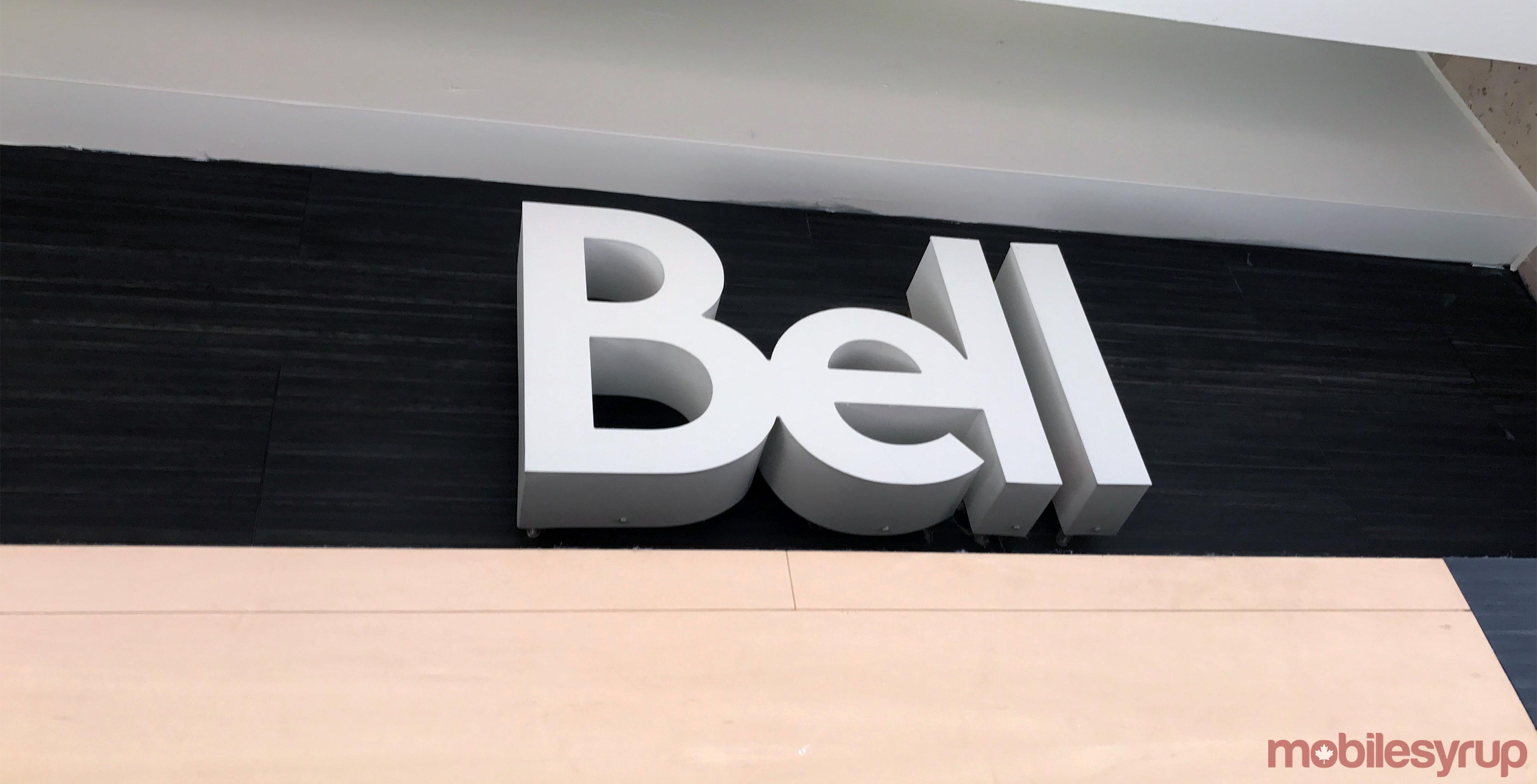 Bell logo on wall
