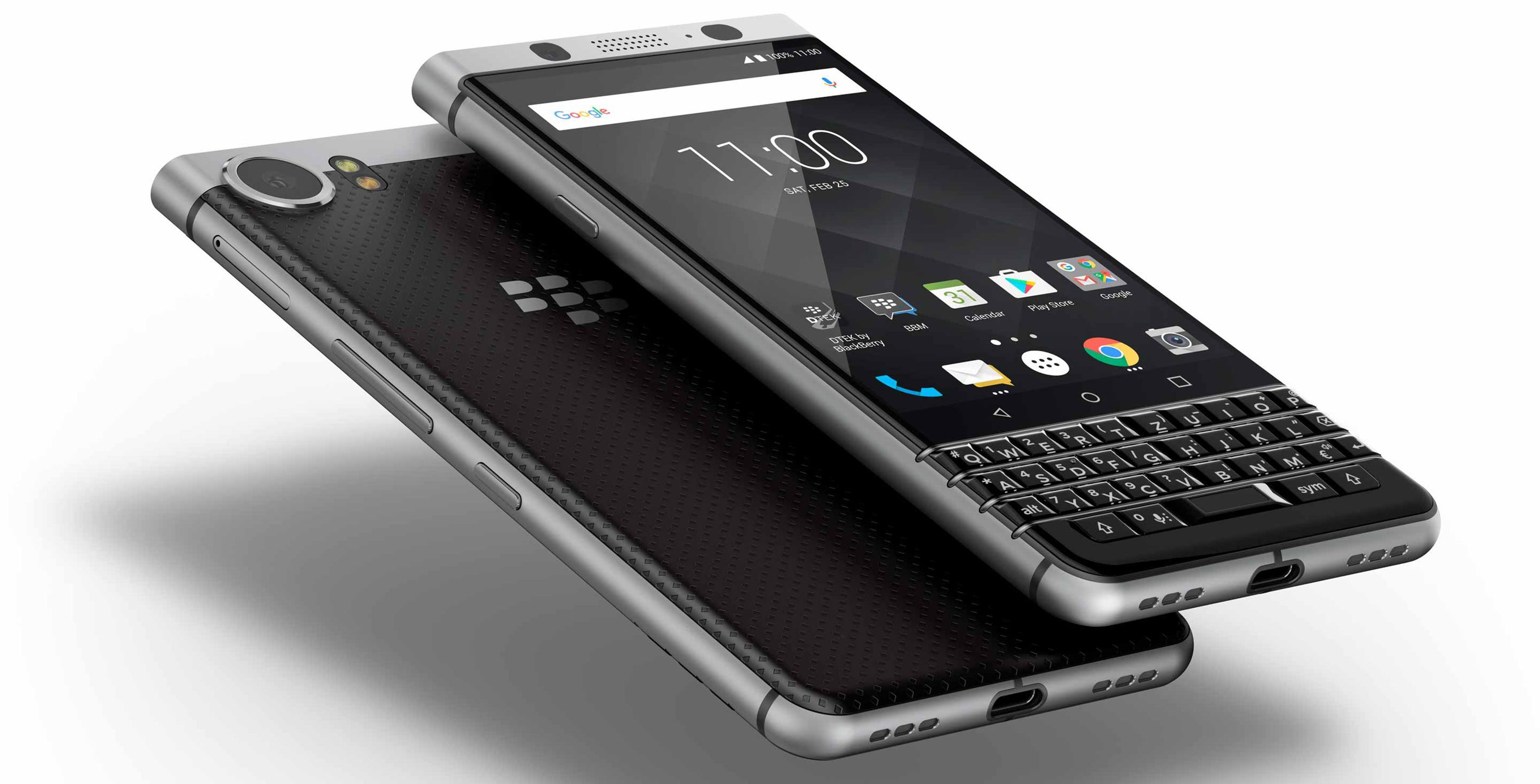 Render of BlackBerry KeyONE smartphone