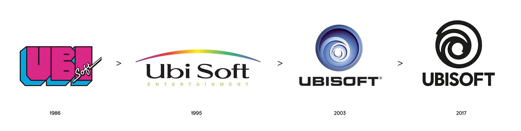 evolution of Ubisoft logos