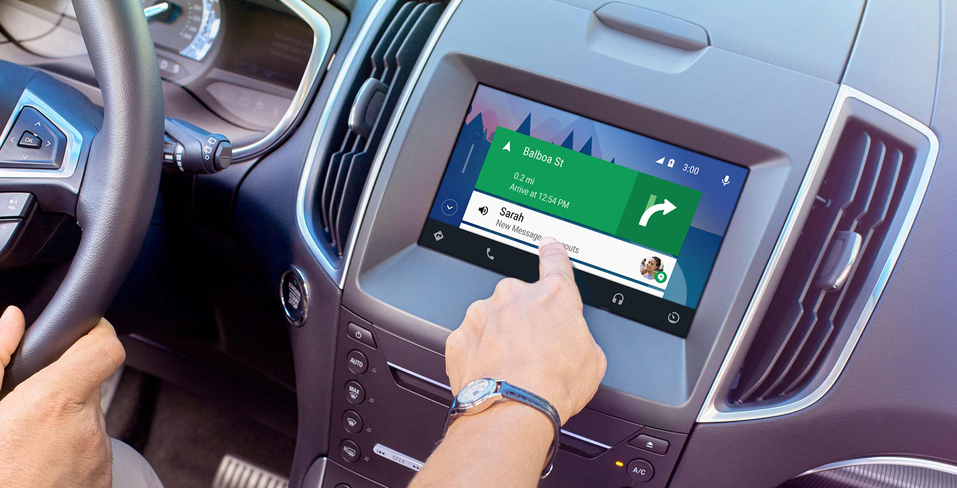 Ford Sync 3 infotainment system running Android Auto