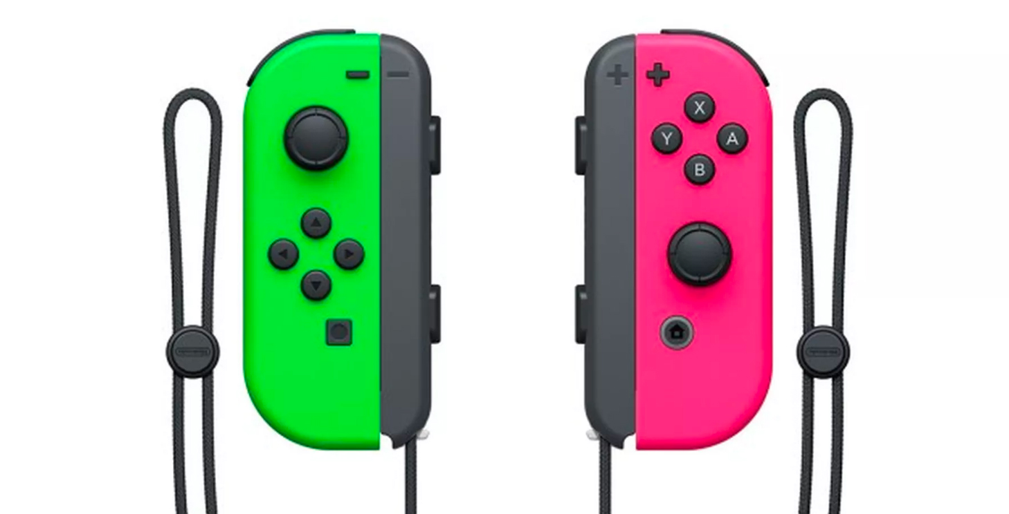 Green and pink Joy-con