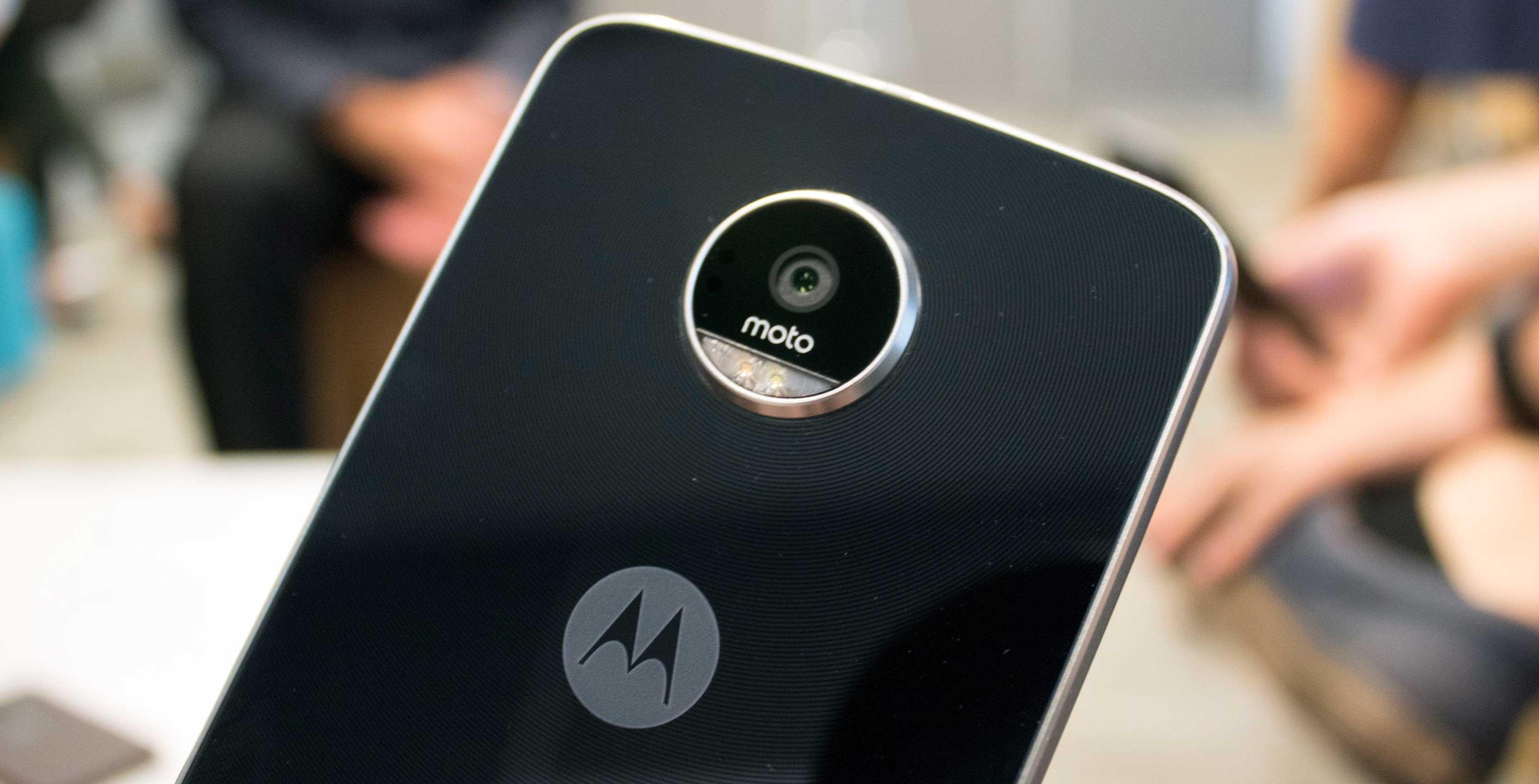 Motorola logo on phone