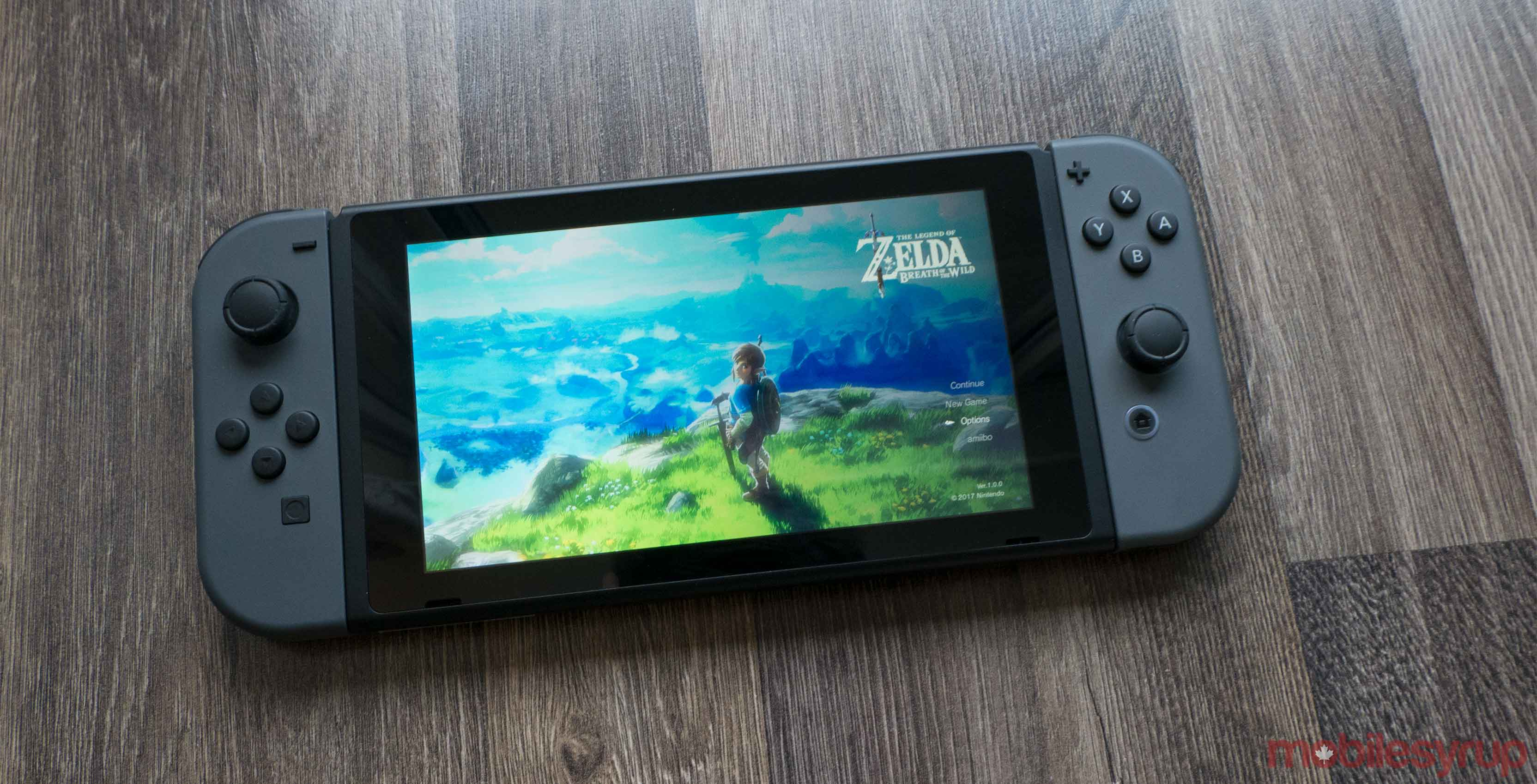 Nintendo Switch front screen